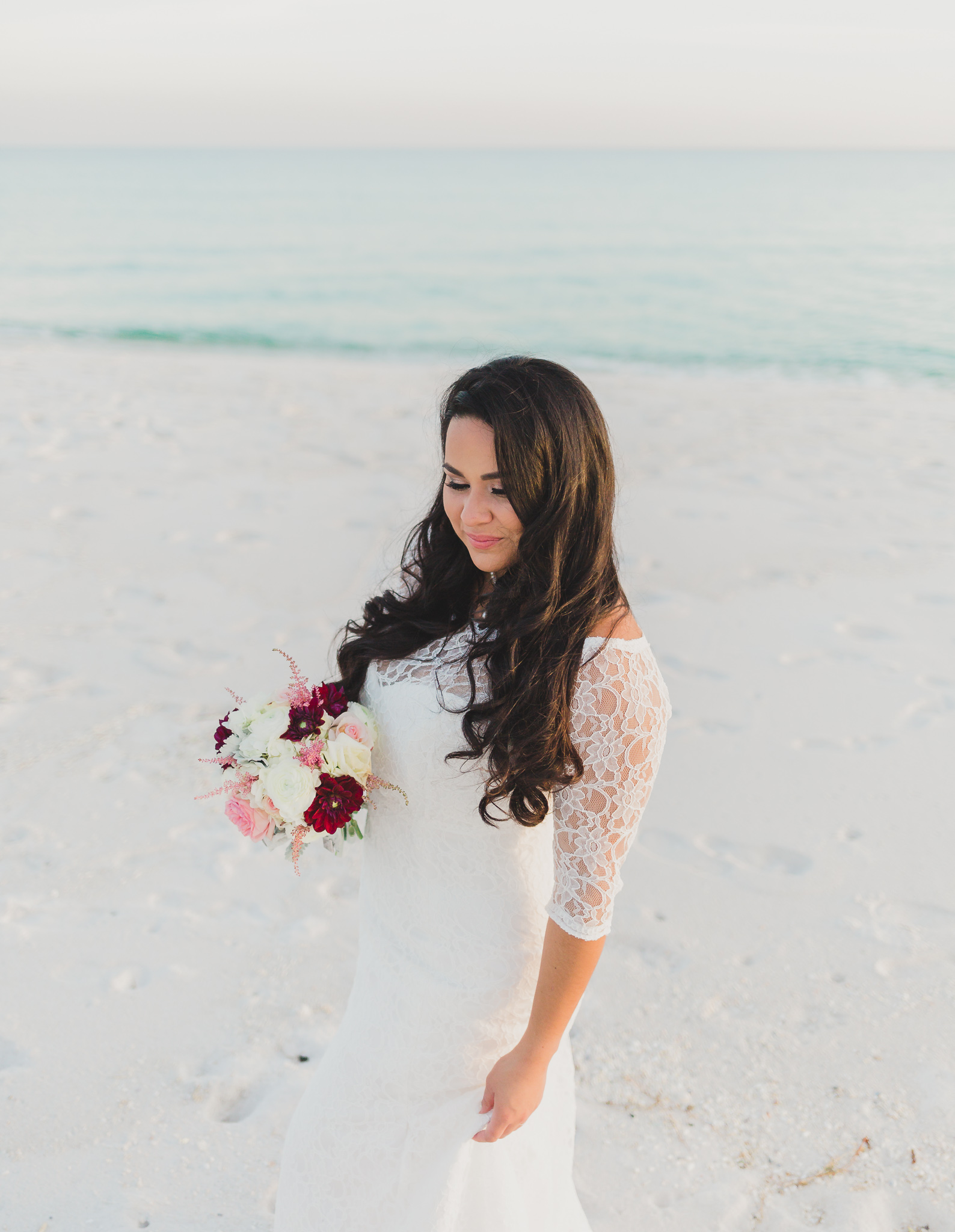 bridal portraits on pensacola beach