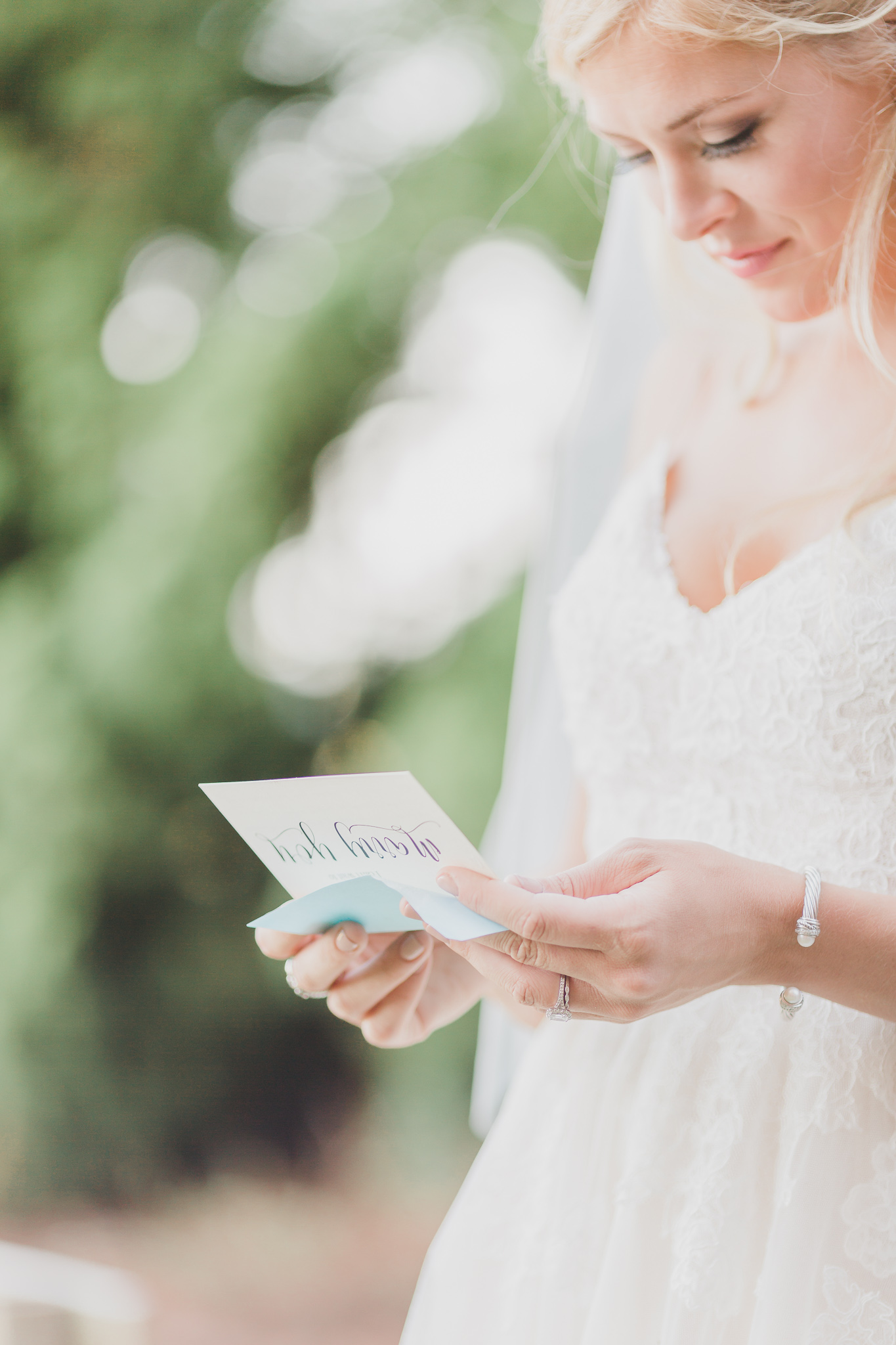 bride reading nontraditional vows
