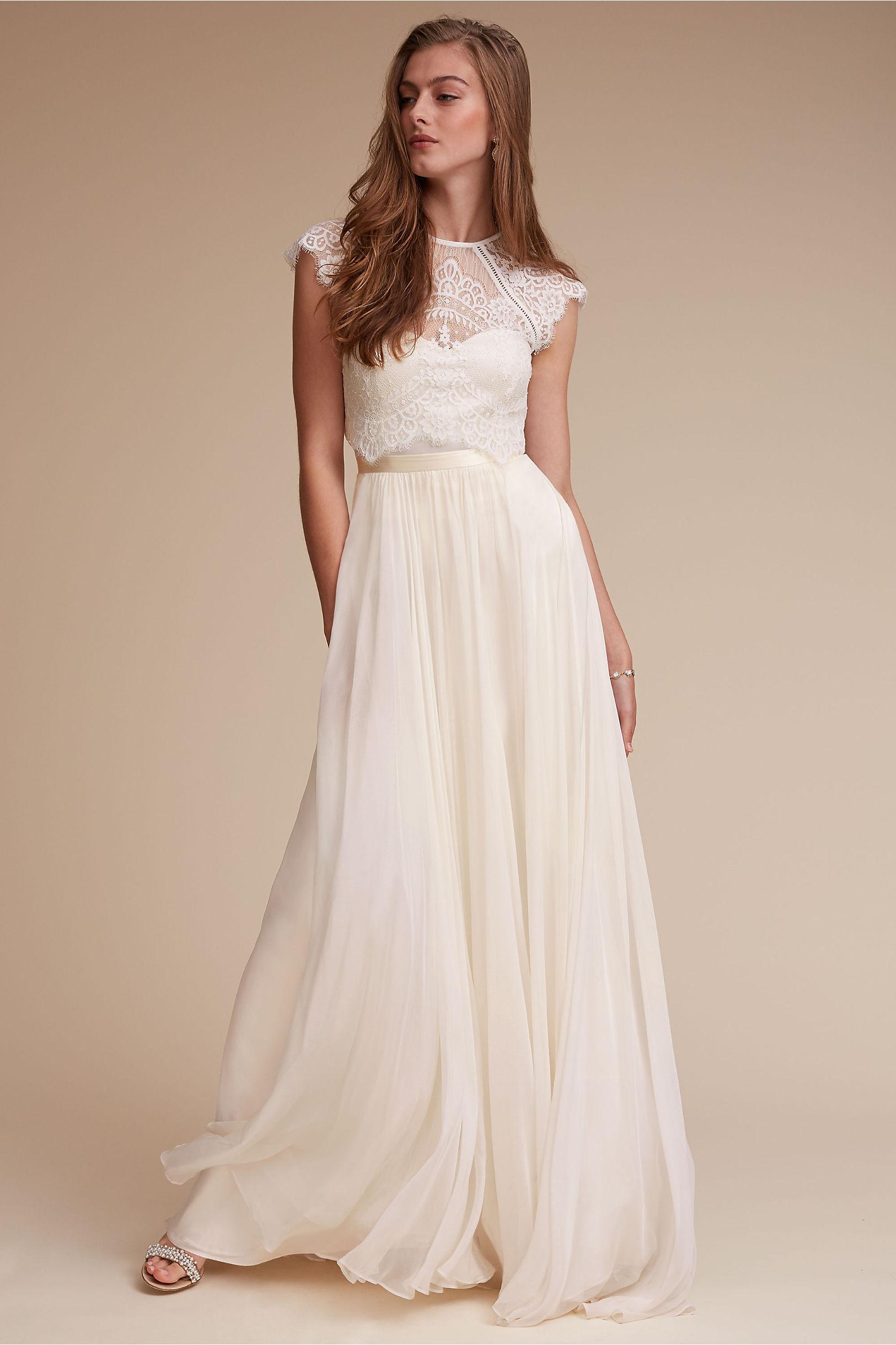 unique 2 piece wedding dress