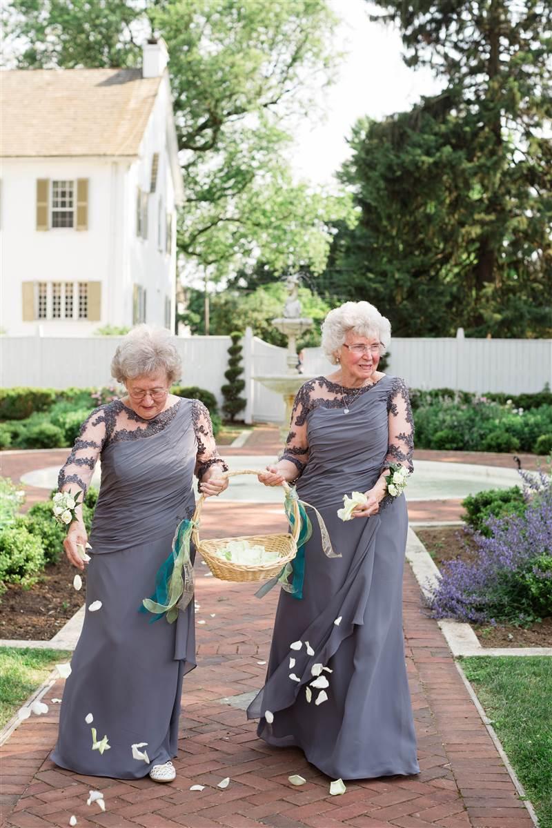 non traditional grandma flower girls