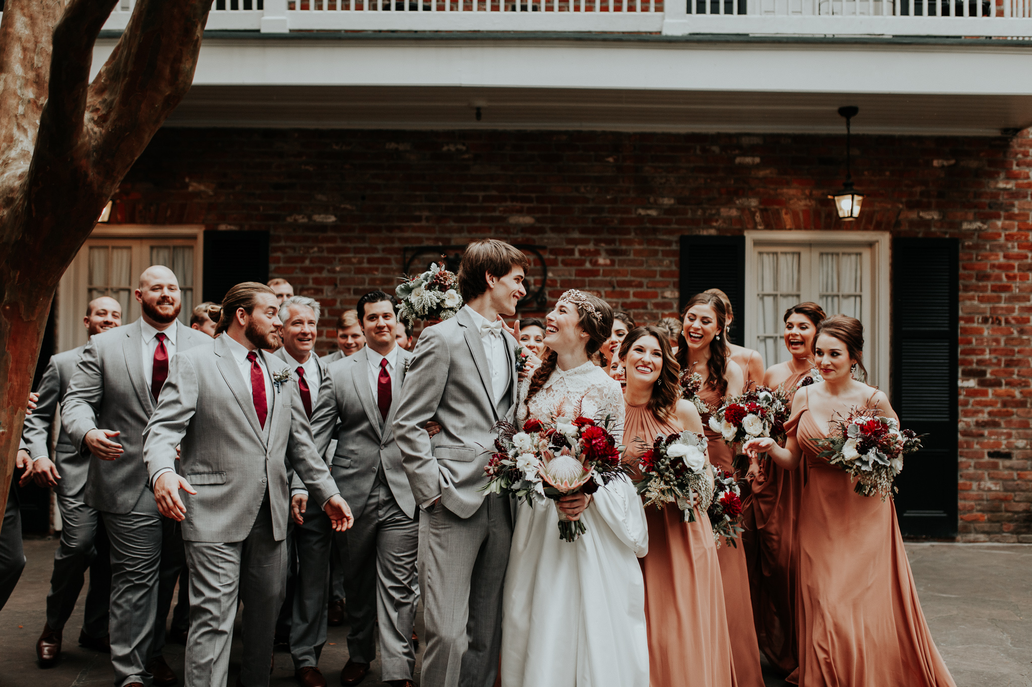 new orleans copper bridemaid wedding dresses