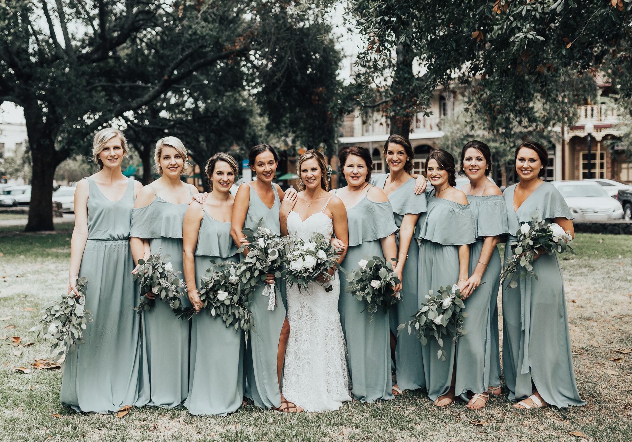downtown pensacola blue bridesmaid dresses