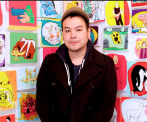 """Brian Leo - Russo's second #AAHA shout-out goes to his childhood friend Korean American Brian Leo, a visual artist in NYC. Leo's work is """"garage-pop surrealism"""" and you can view his work at brianleo.com."""