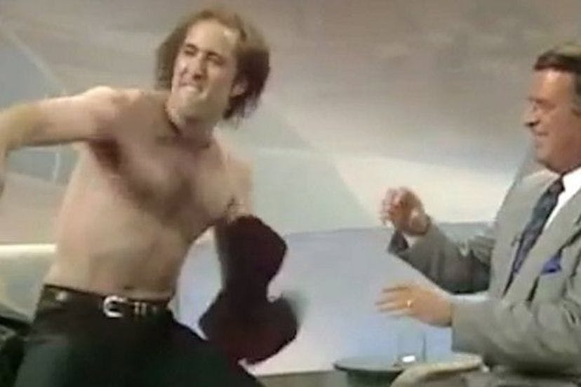 Nic Cage fist pump of confidence