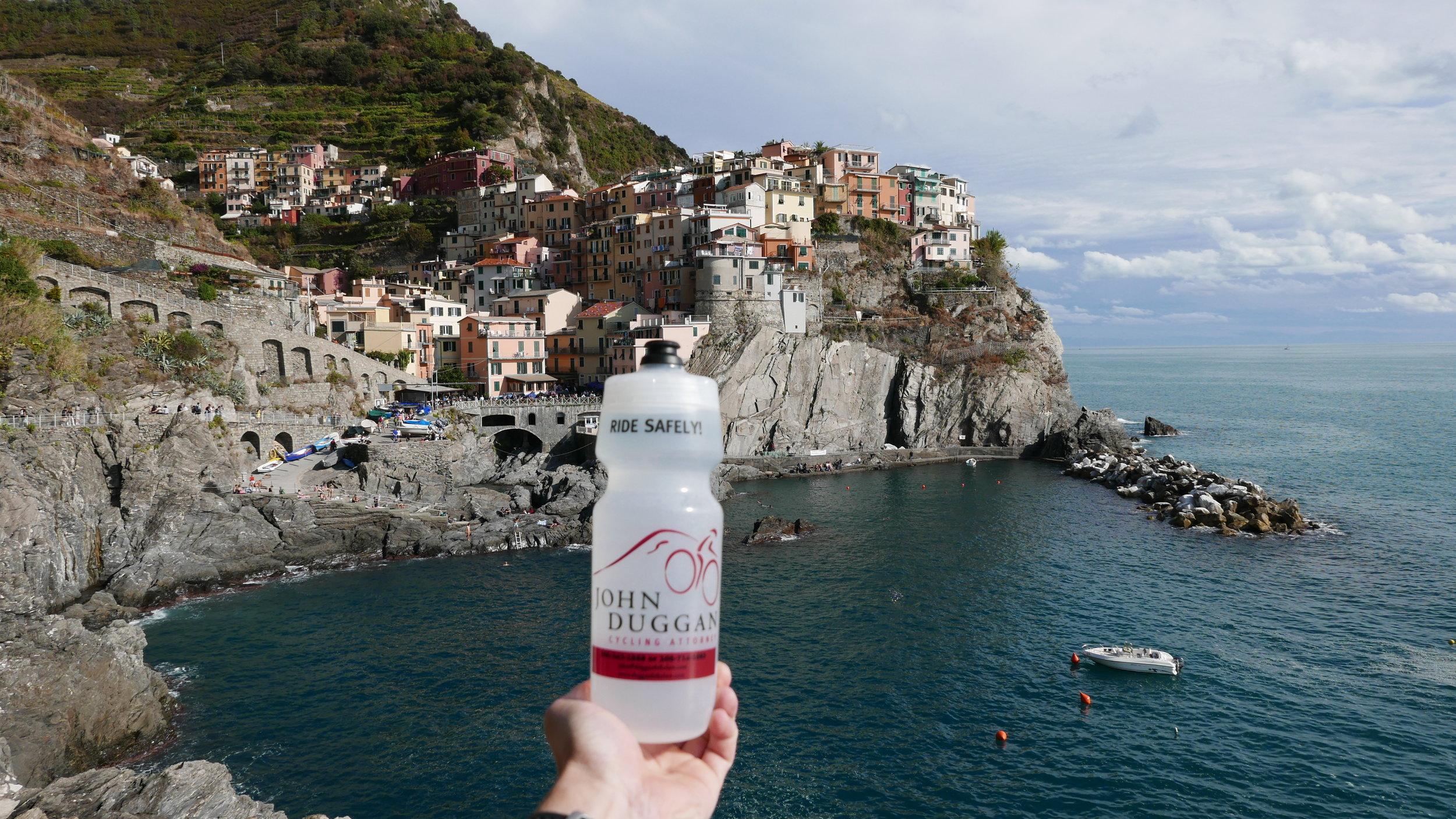 Jack Duggan with JD in Cinque Terre, Italy