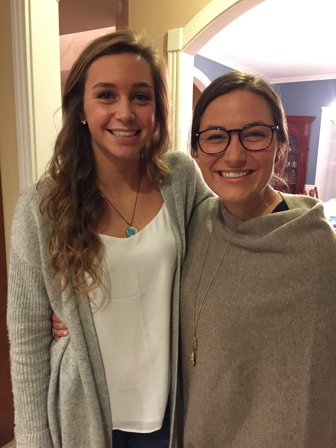Glenn and her advisee, Jessie Gray (SP'15), in Falmouth!