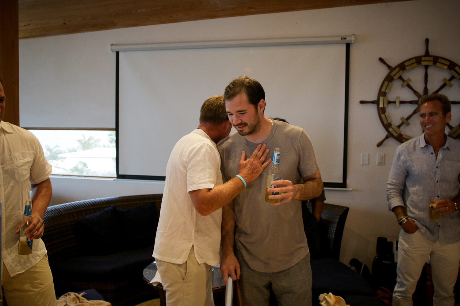 Nick Del Vecchio (Fall 2002) sharing a moment with Chris Maxey (Co-Founder).