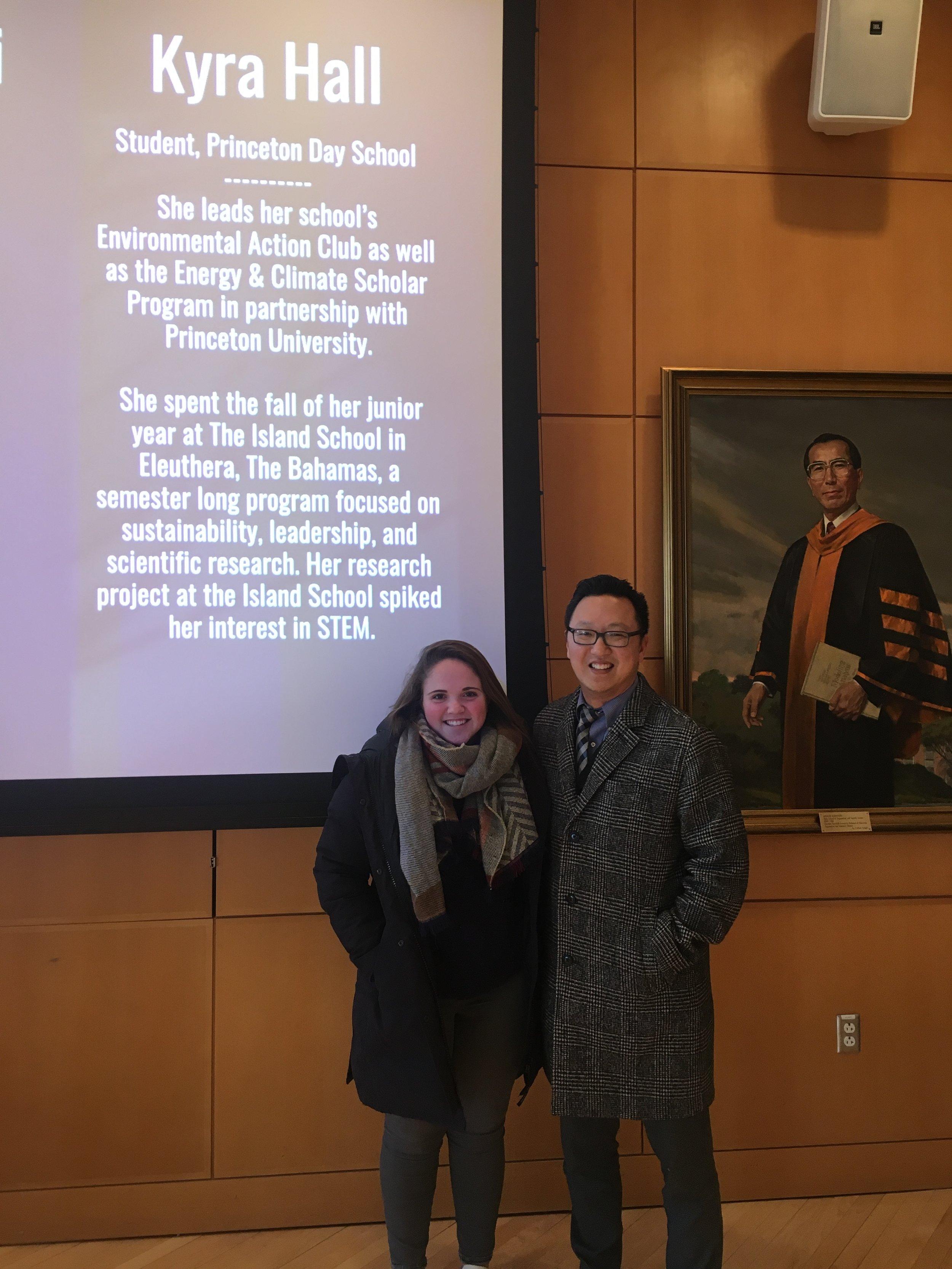 Kyra Hall, F'16, and another keynote speaker at IgniteSTEM.