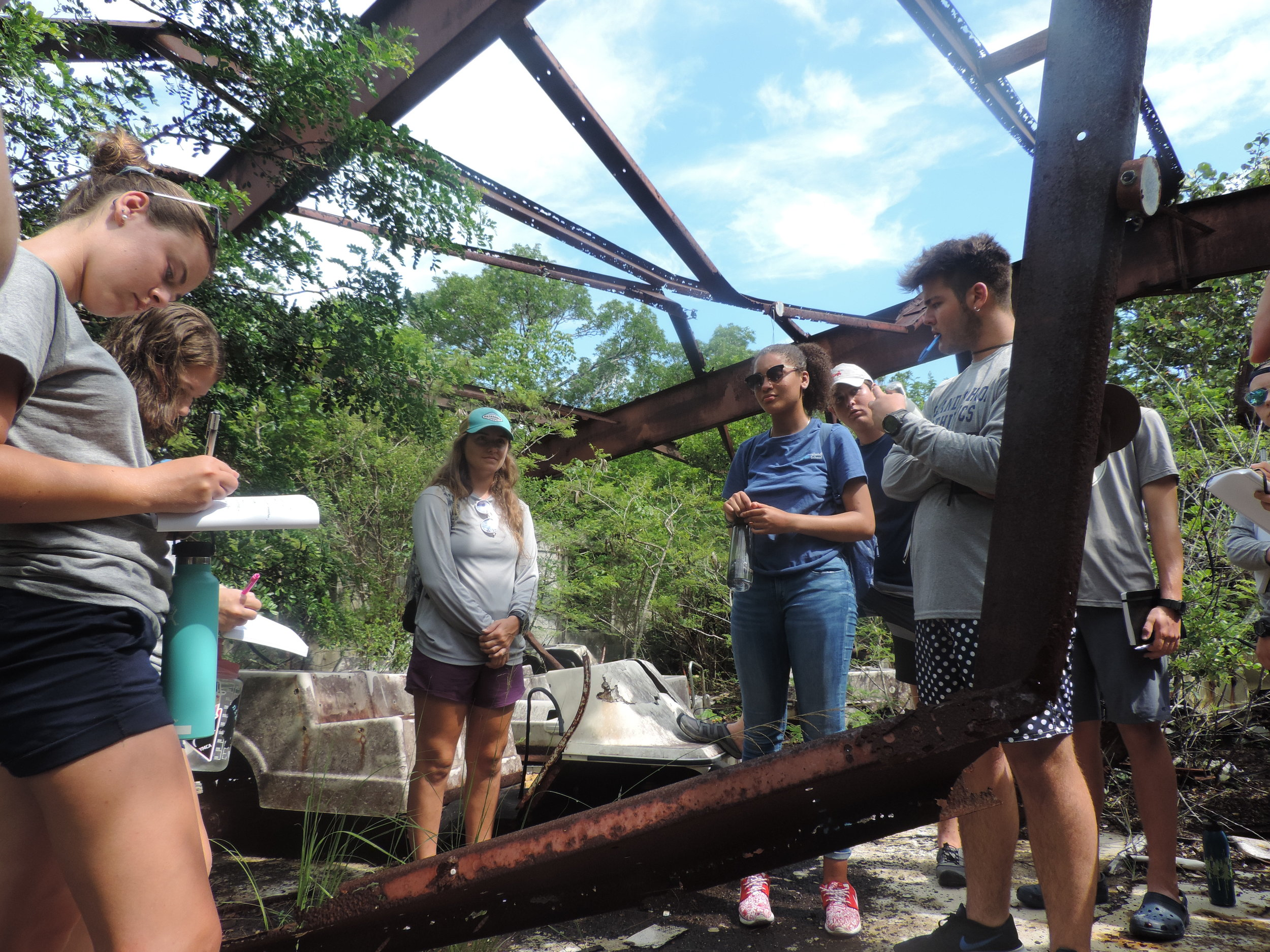 Students also visited a nearby abandoned resort where they discussed the ecological and social impact of mass development in the Bahamas.