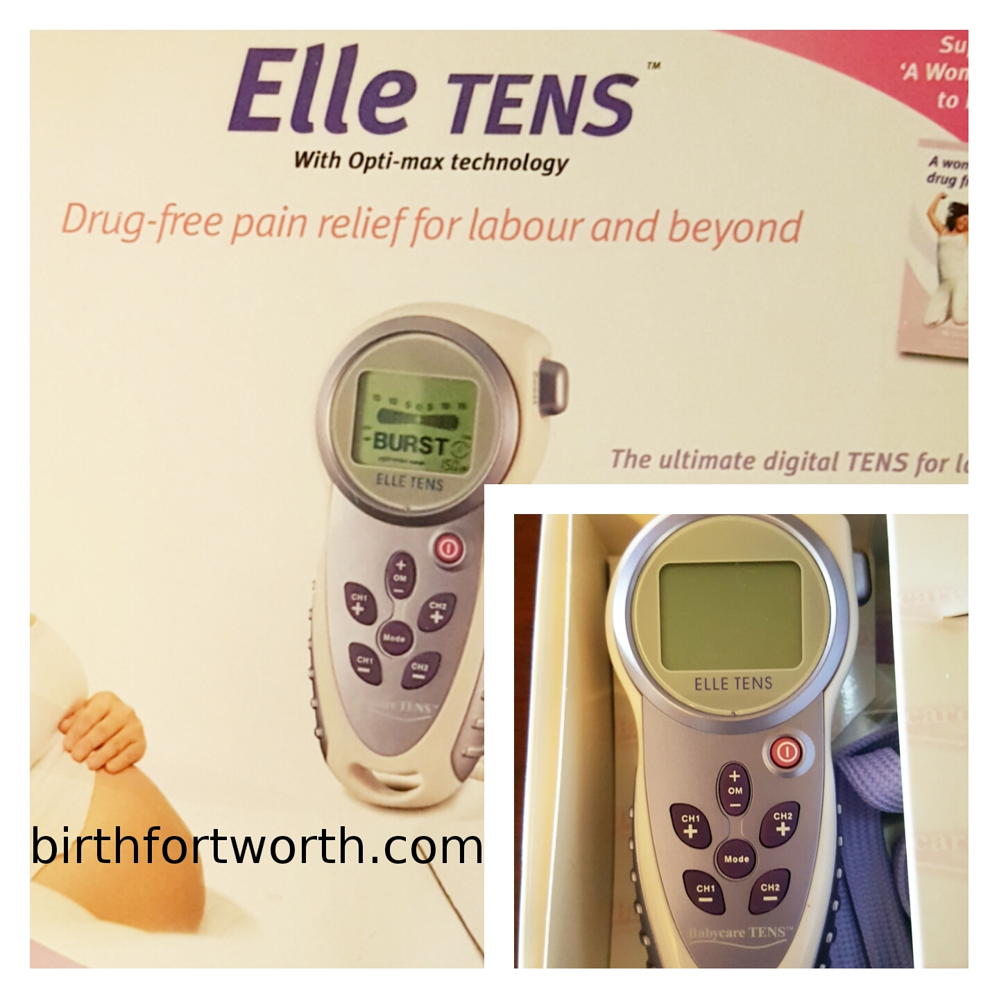 TENS Unit rentals are included in our Full Service Doula Package