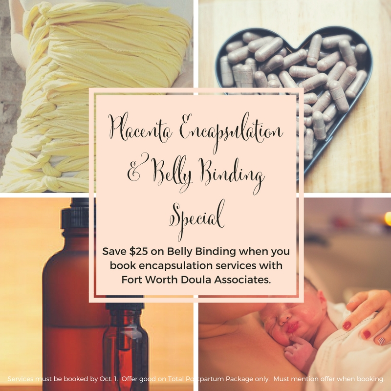 Belly Binding with Fort Worth Doula Associates