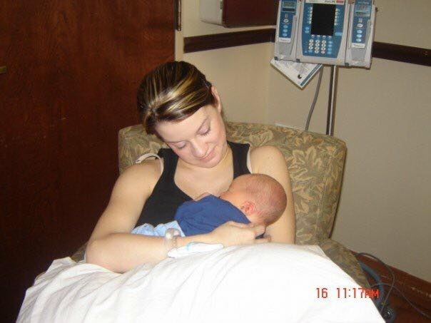 birth   Fort Worth doula, Megan Carr, with her firstborn