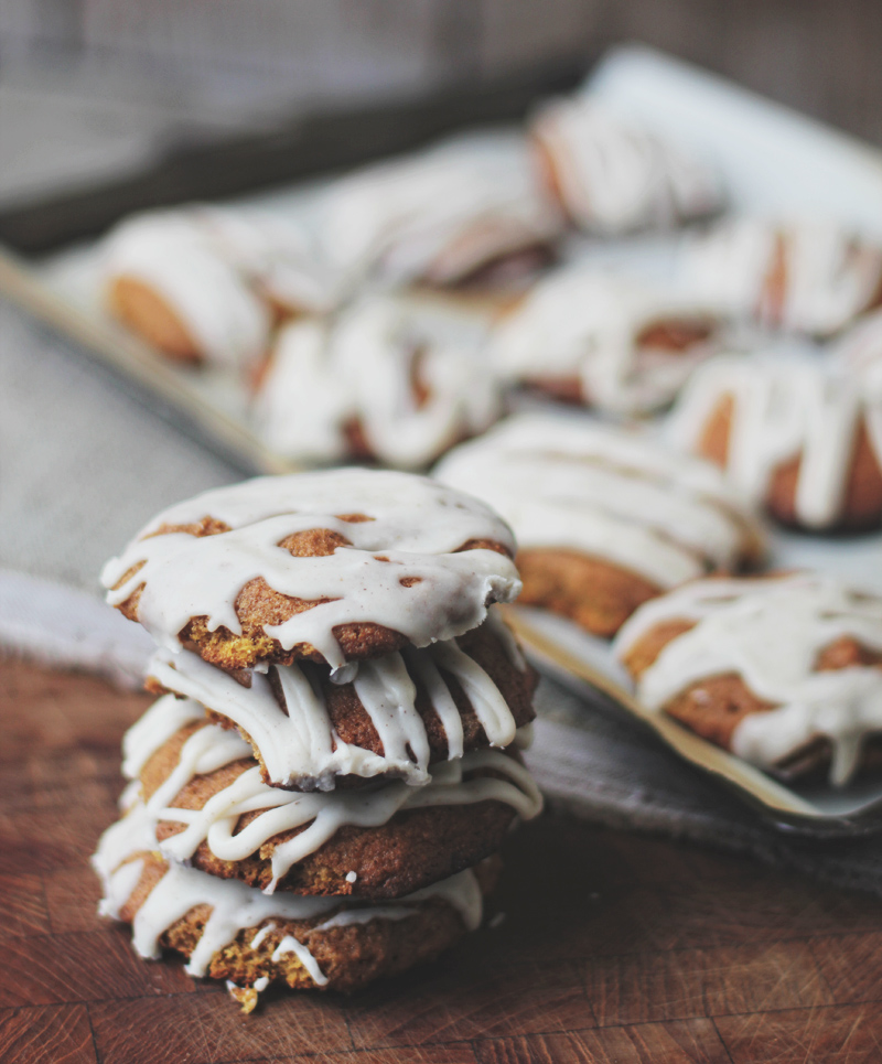 Pumpkin Cookies with Maple Icing