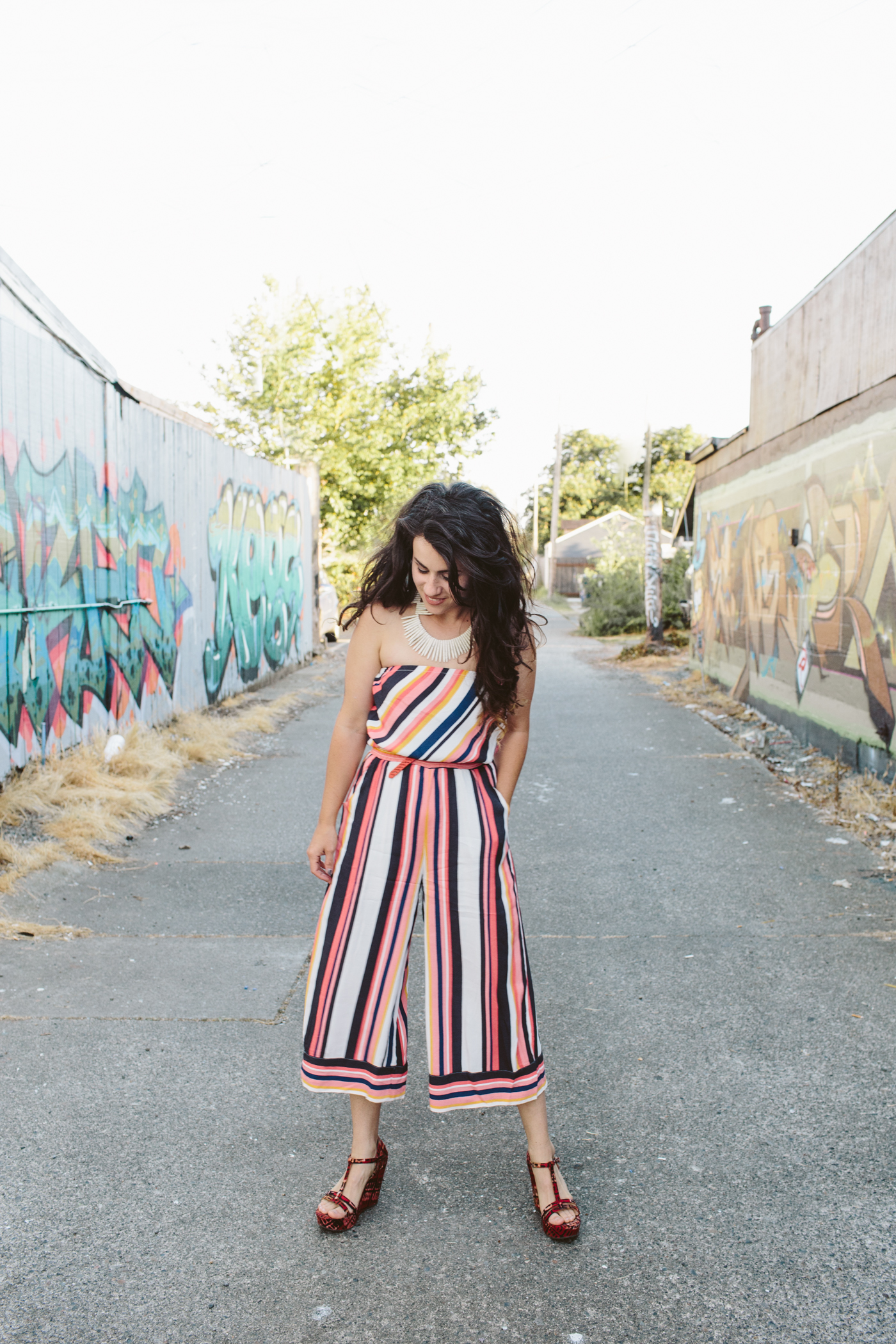 Striped Jumpsuit Summer Outfit