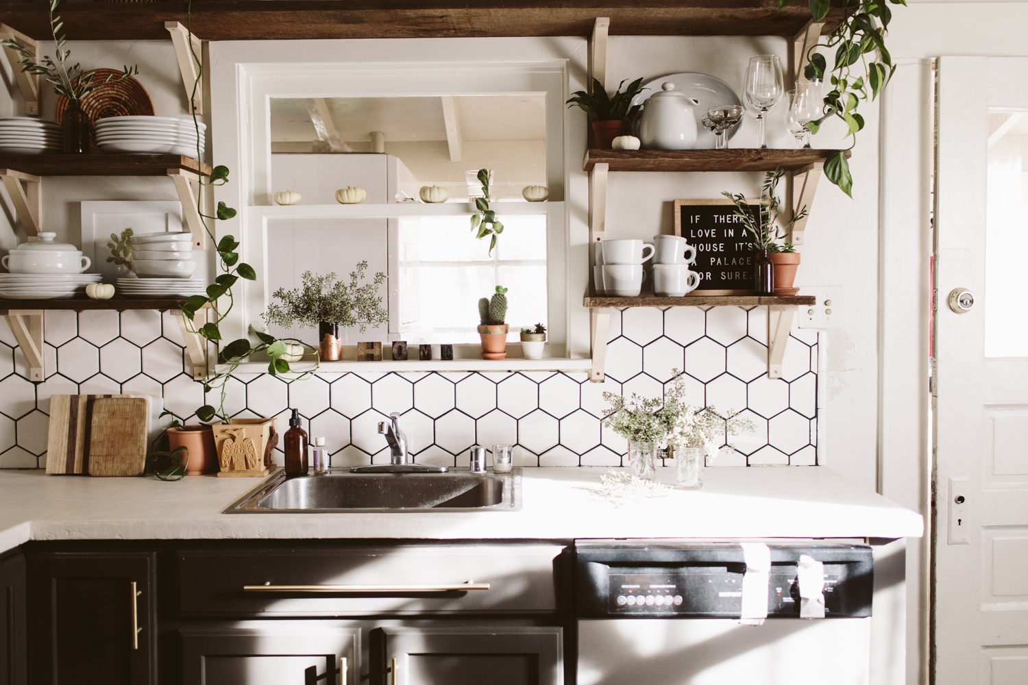 Fresh Boho Kitchen Remodel Before + After