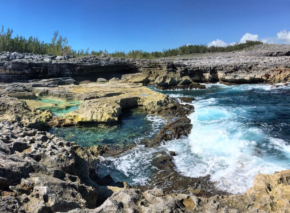 CEI Gap Year students enjoy many trips to different attractions around Eleuthera, including swimming in Queens Baths (pictured above).