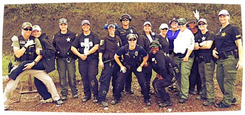 The LouKa pistol course class photo. Christine's on the far left.