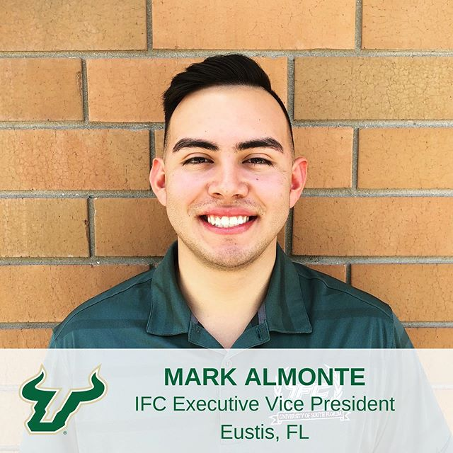 Meet Mark Almonte! Mark is a Finance Major from Eustis, FL and serves as the IFC Executive Vice President! He is a first generation college student and the first person in his family to join a fraternity or sorority. This summer he will be working with Valley National Bank as a credit and commercial lending intern. #IFCUSF #MeetTheBoard