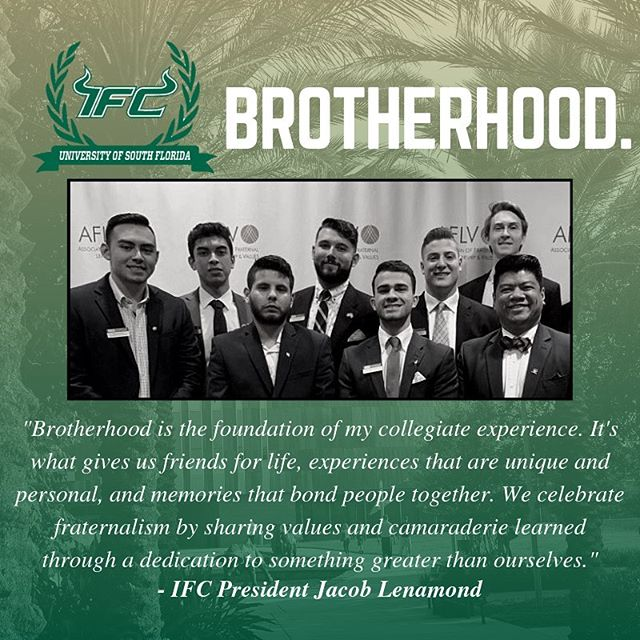 Brotherhood extends not only across chapters but beyond the collegiate years. Register for IFC recruitment now at bullsifc.com!