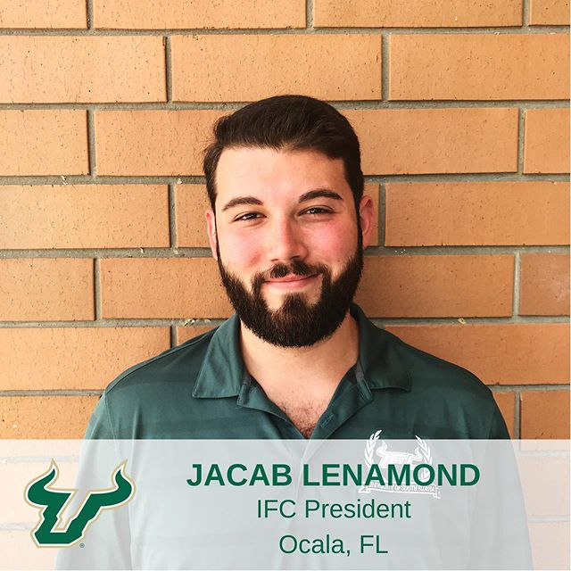 Finally, meet Jacob Lenamond! Jacob is the Interfaternity Council President who sets the vision for the community and oversees the executive council. He is Majoring in Communication with a Minor in Leadership Studies. Graduating this Fall, he will be pursuing a career in Fraternity & Sorority Life. Jacob spends his free time SCUBA diving and is on track to become a Master Diver! #IFCUSF #MeetTheBoard