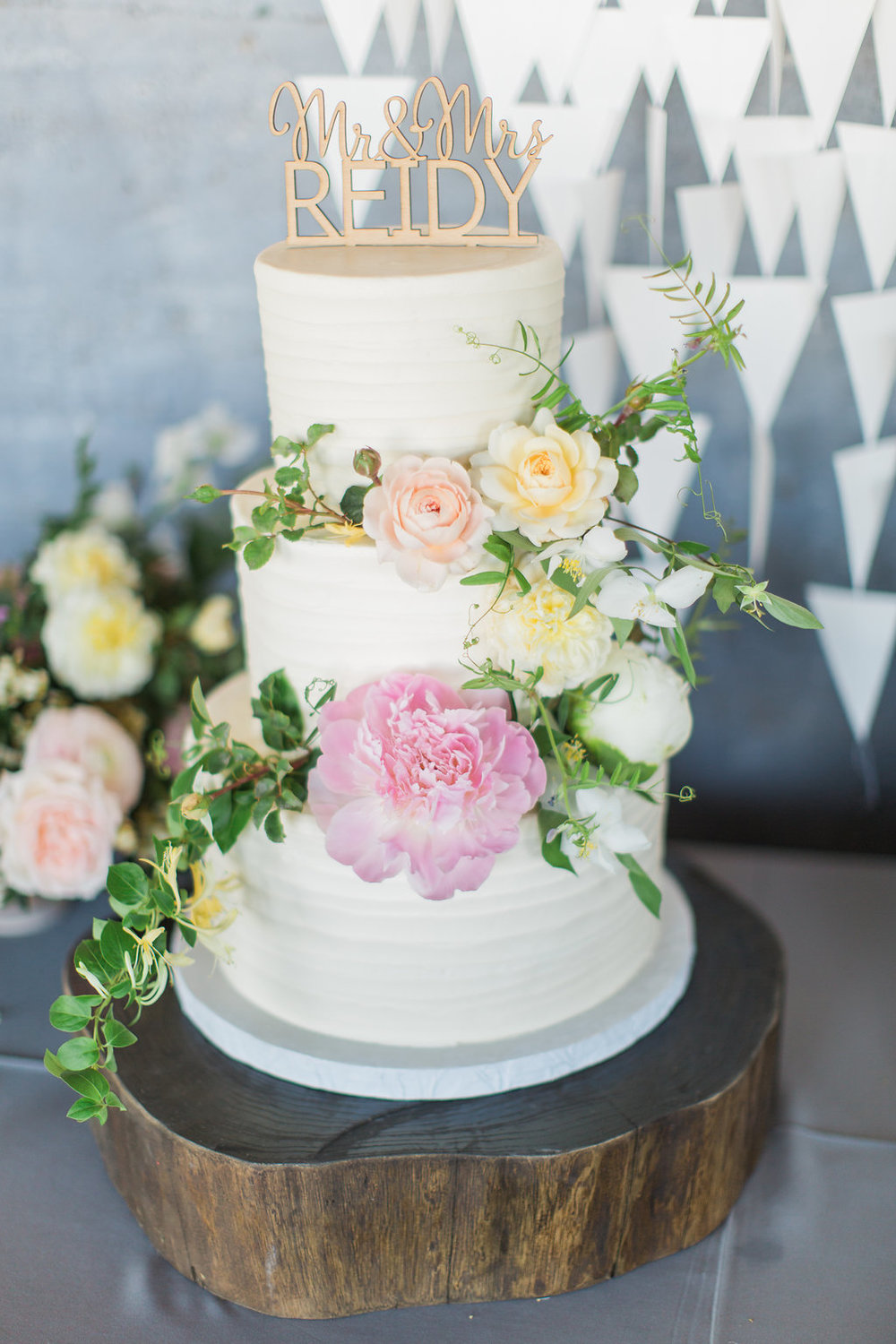 Textured Buttercream Floral Cake by  Sugar Bee Sweets