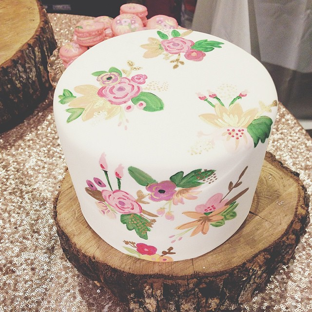 Hand Painted Cake by  Cakewalk Bake Shop