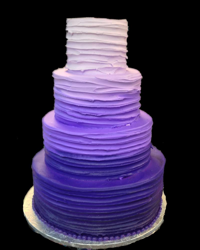 Purple Ombre Cake by  The Cake Guys
