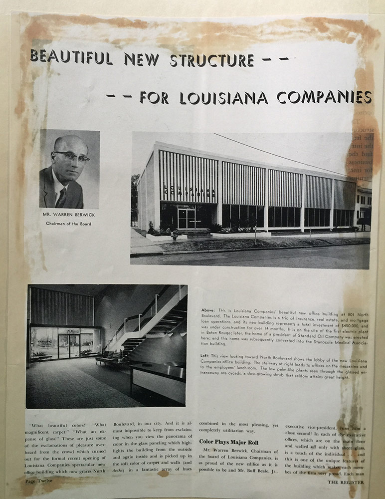 Article discussing new office,  1959