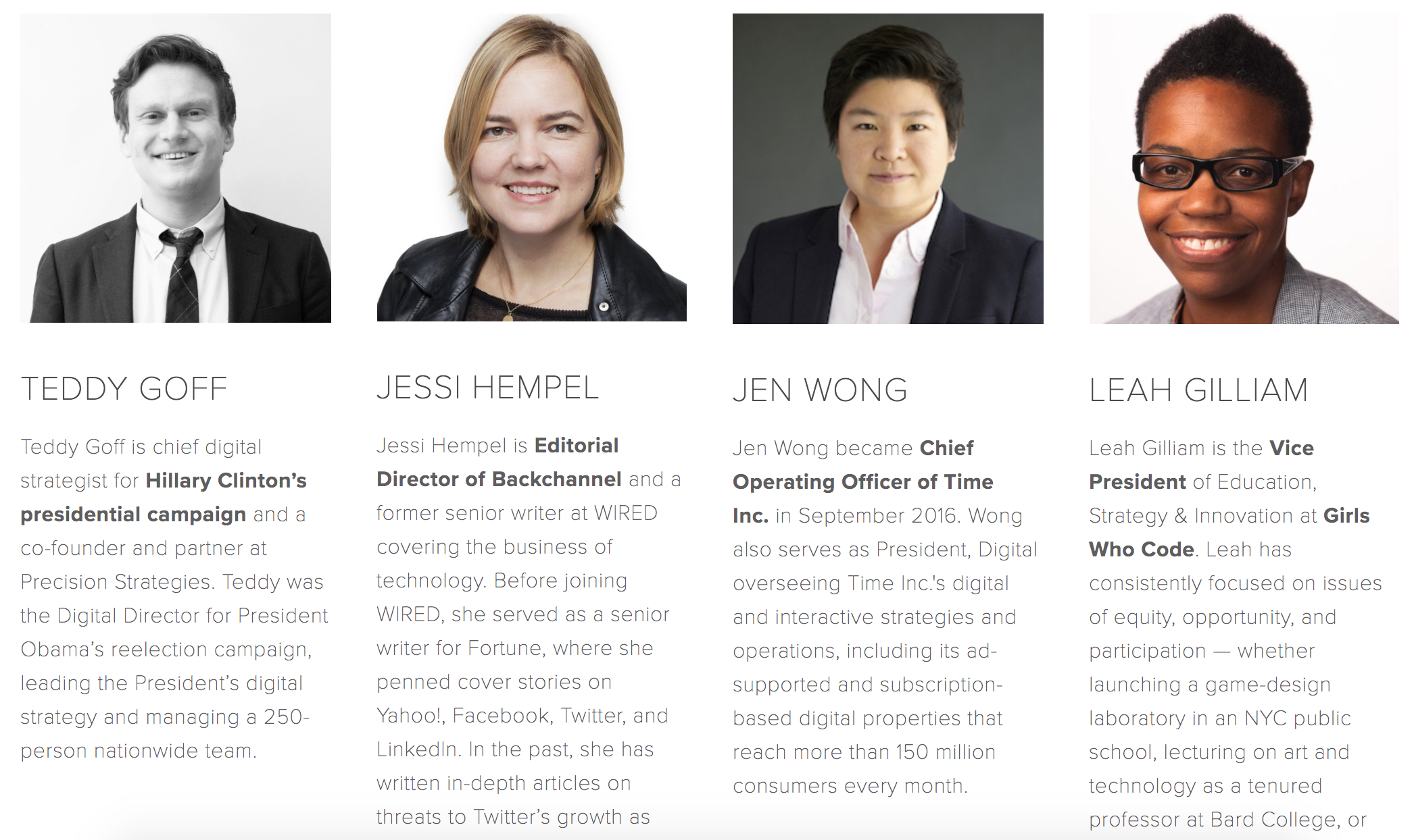 Speaker biographies for Out in Tech Talks