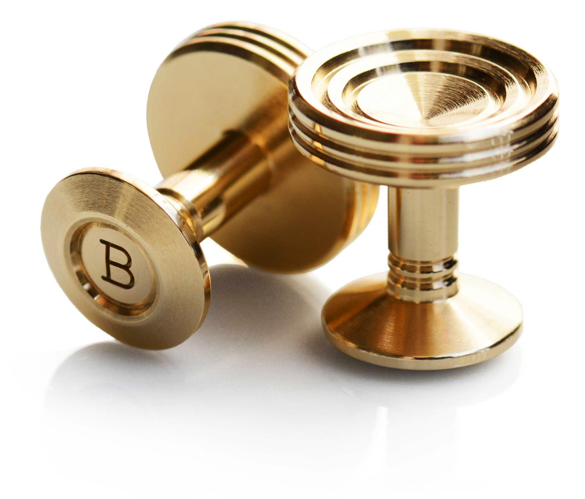 Buchanan & Wilmot St James cufflink in polished brass