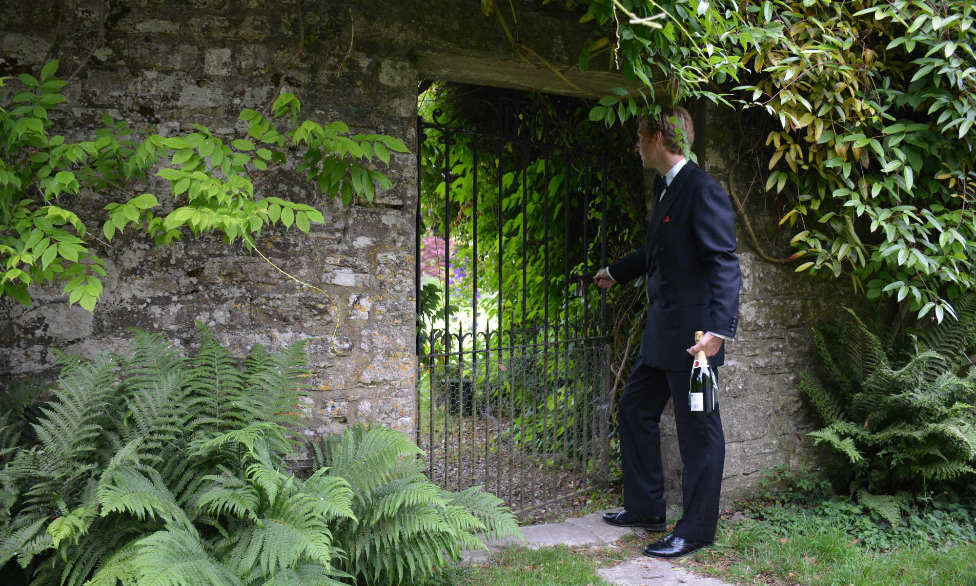 Buchanan & Wilmot - black tie garden - British made luxury cufflinks, gifts for men and women