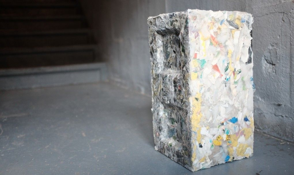 Recycled ocean plastic block ByFusion