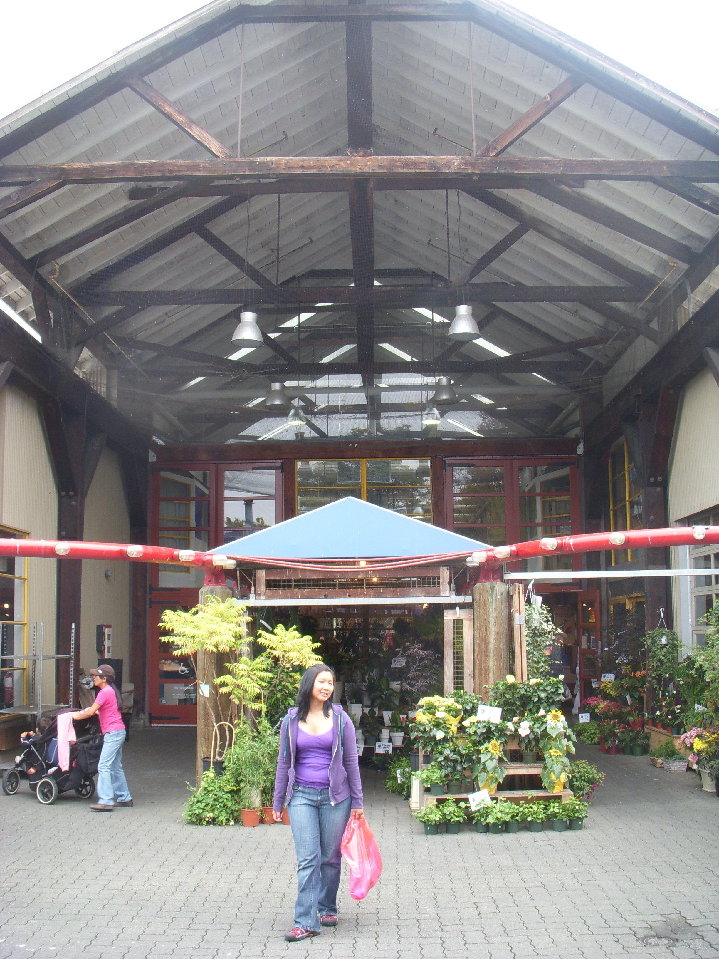 Mai at the entrance