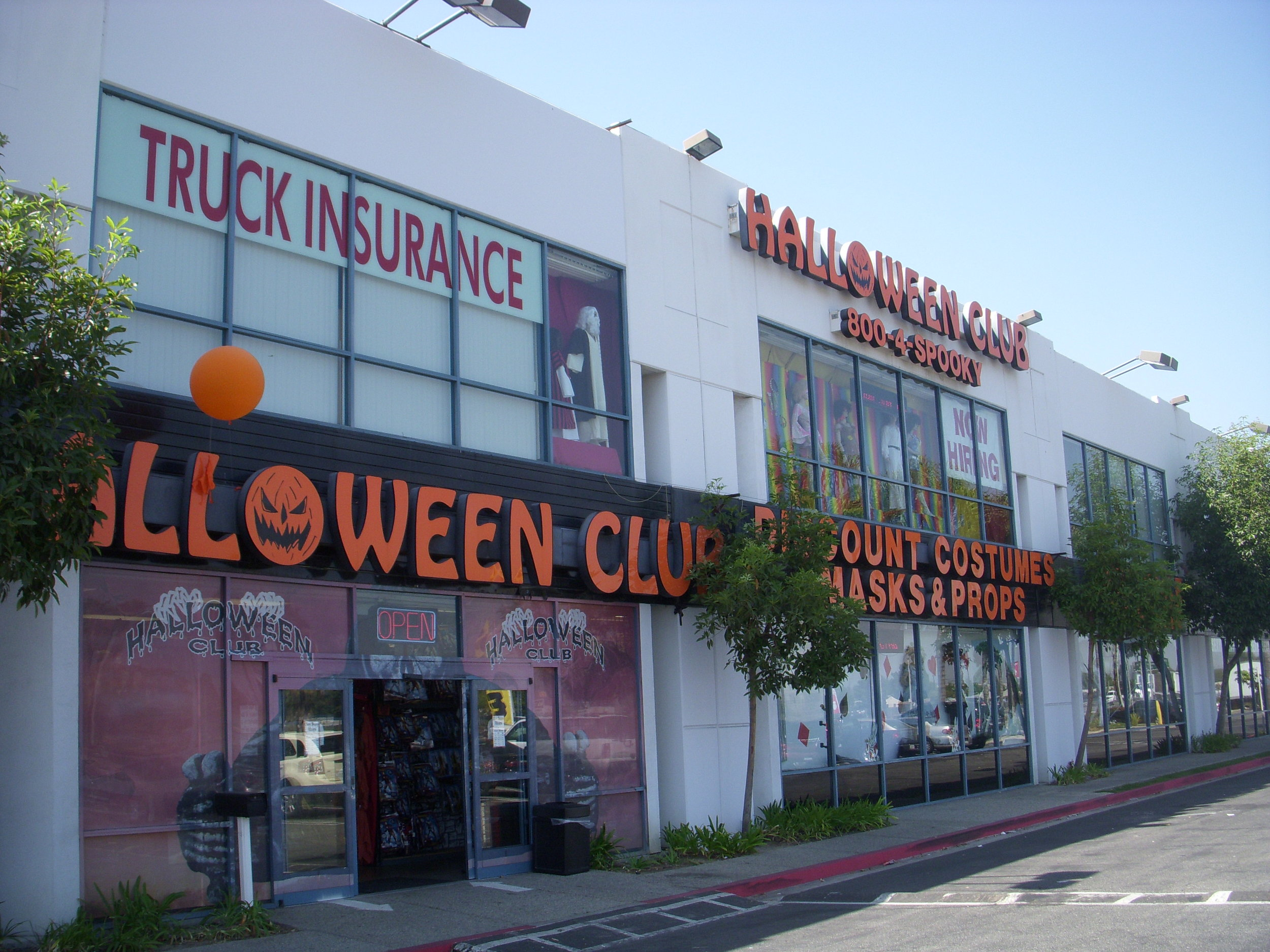 Outside halloween club