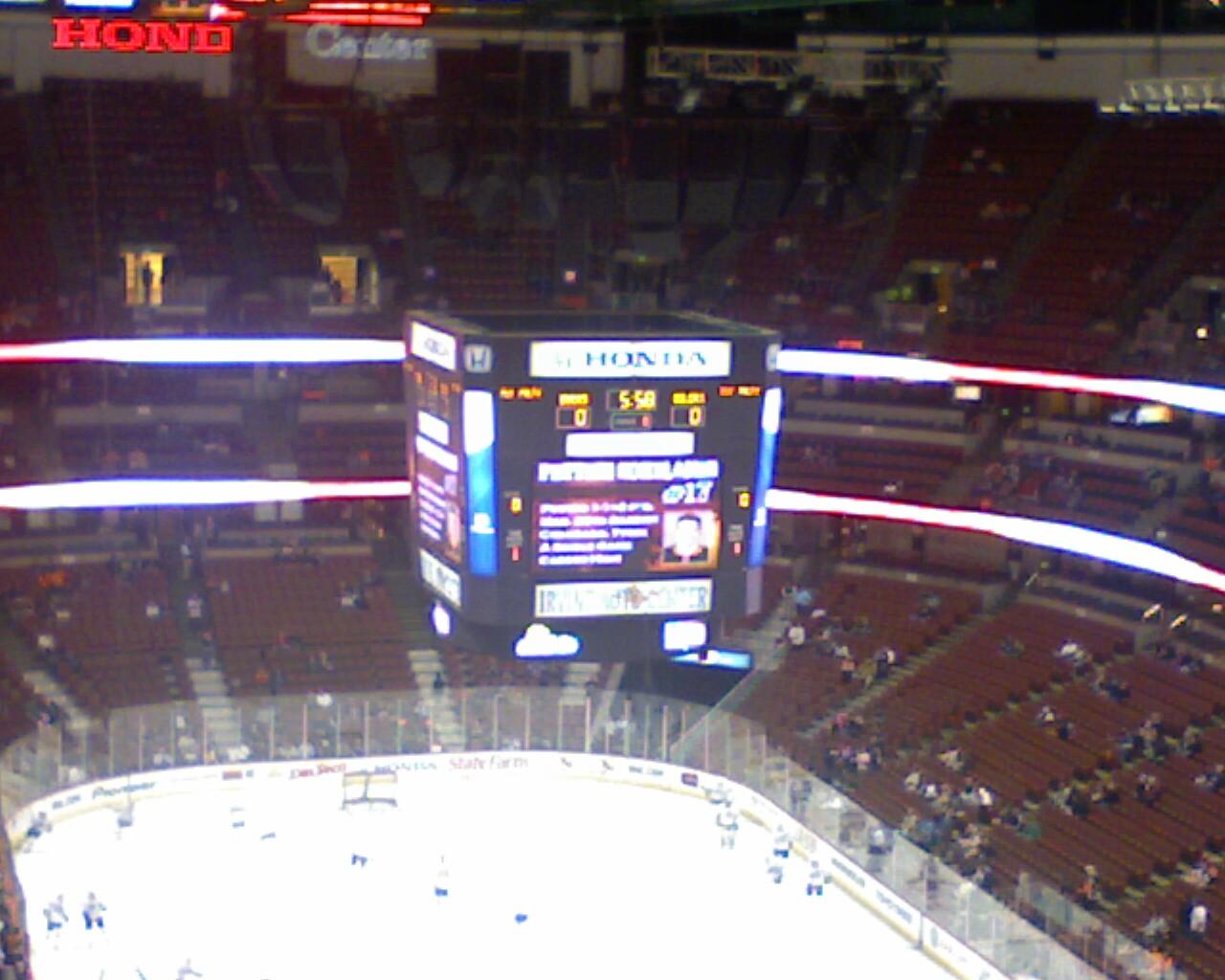 Above the scoreboard