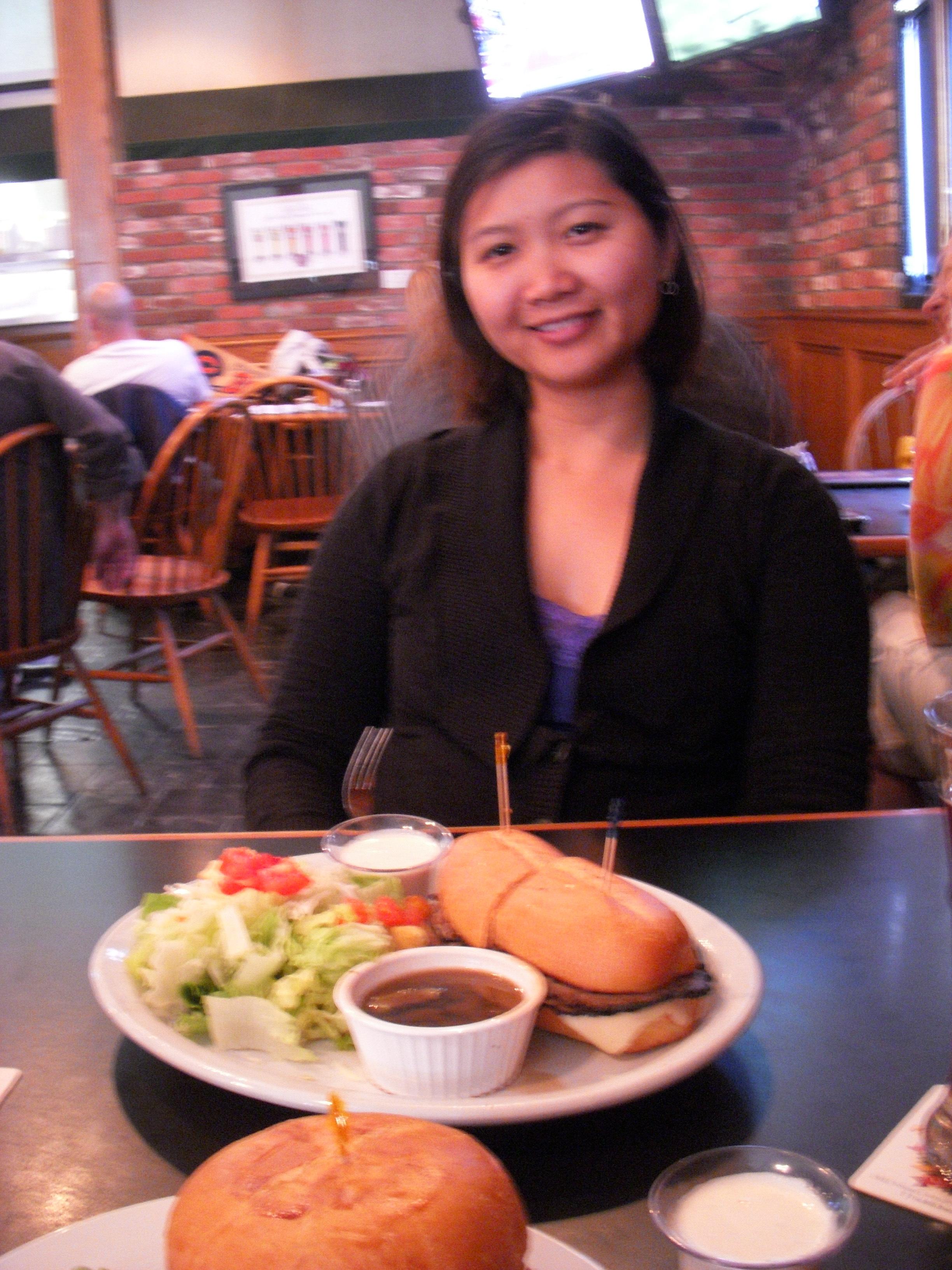 Mai and sandwich