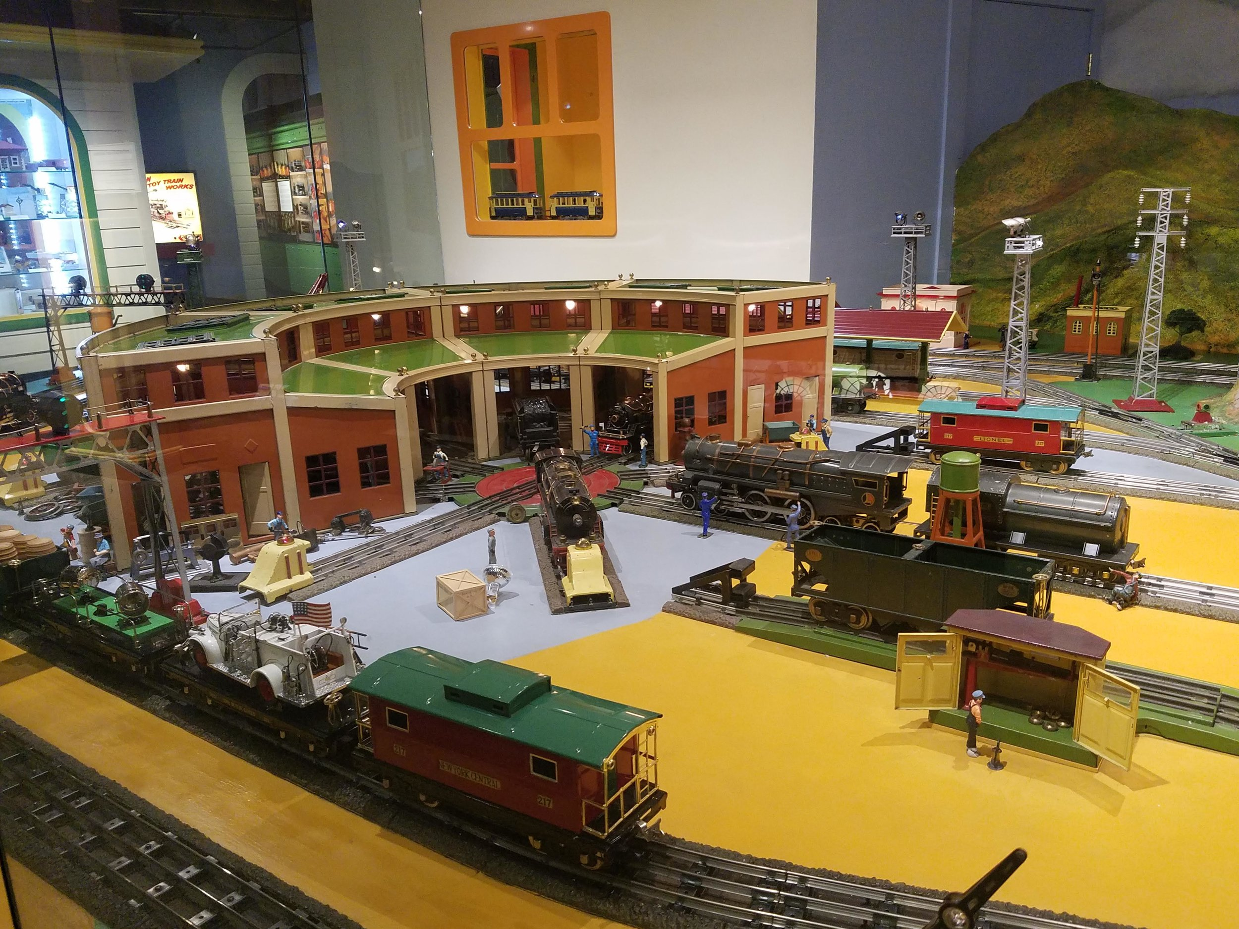 Model train roundhouse