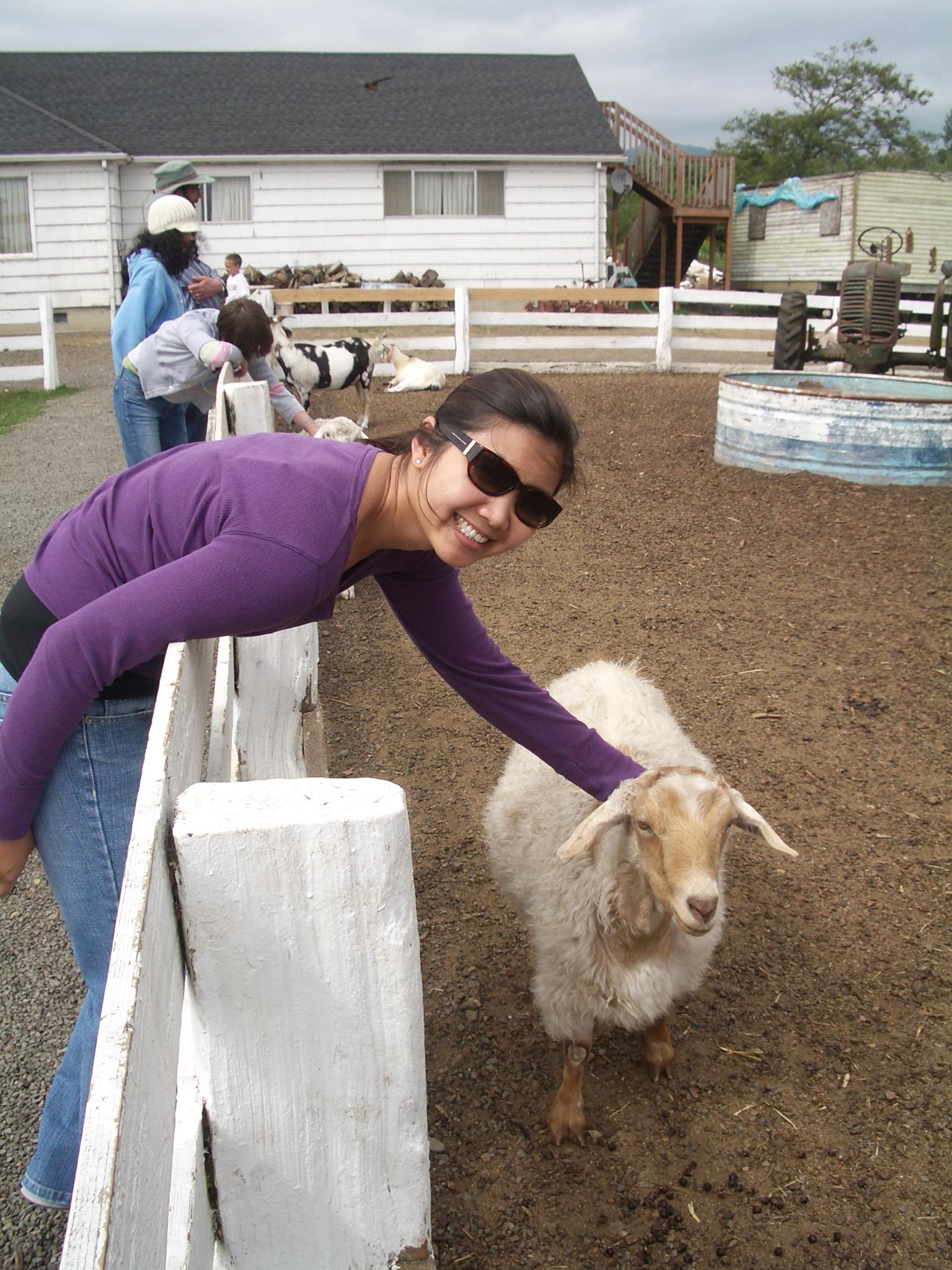 Mai and goat