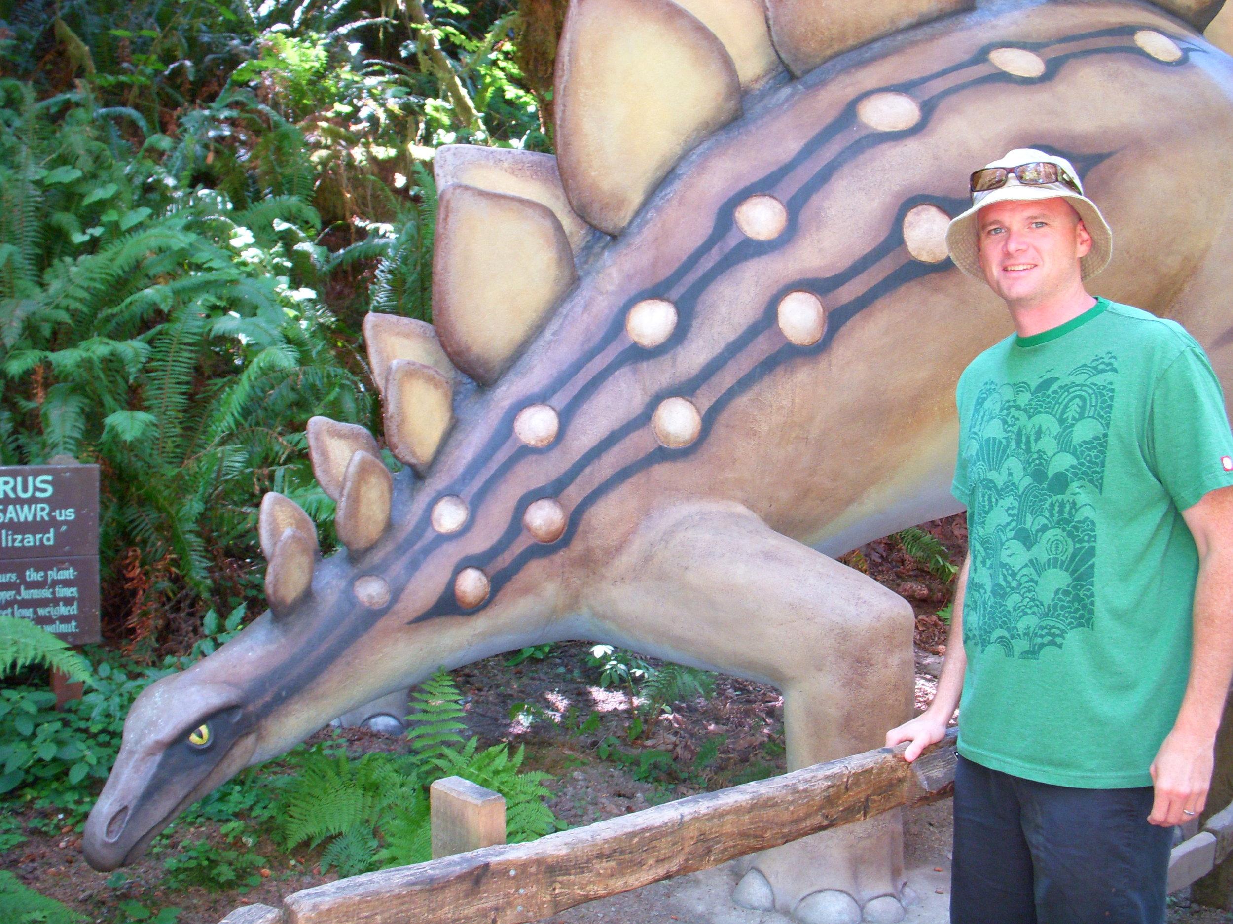 Ed and stegosaurus
