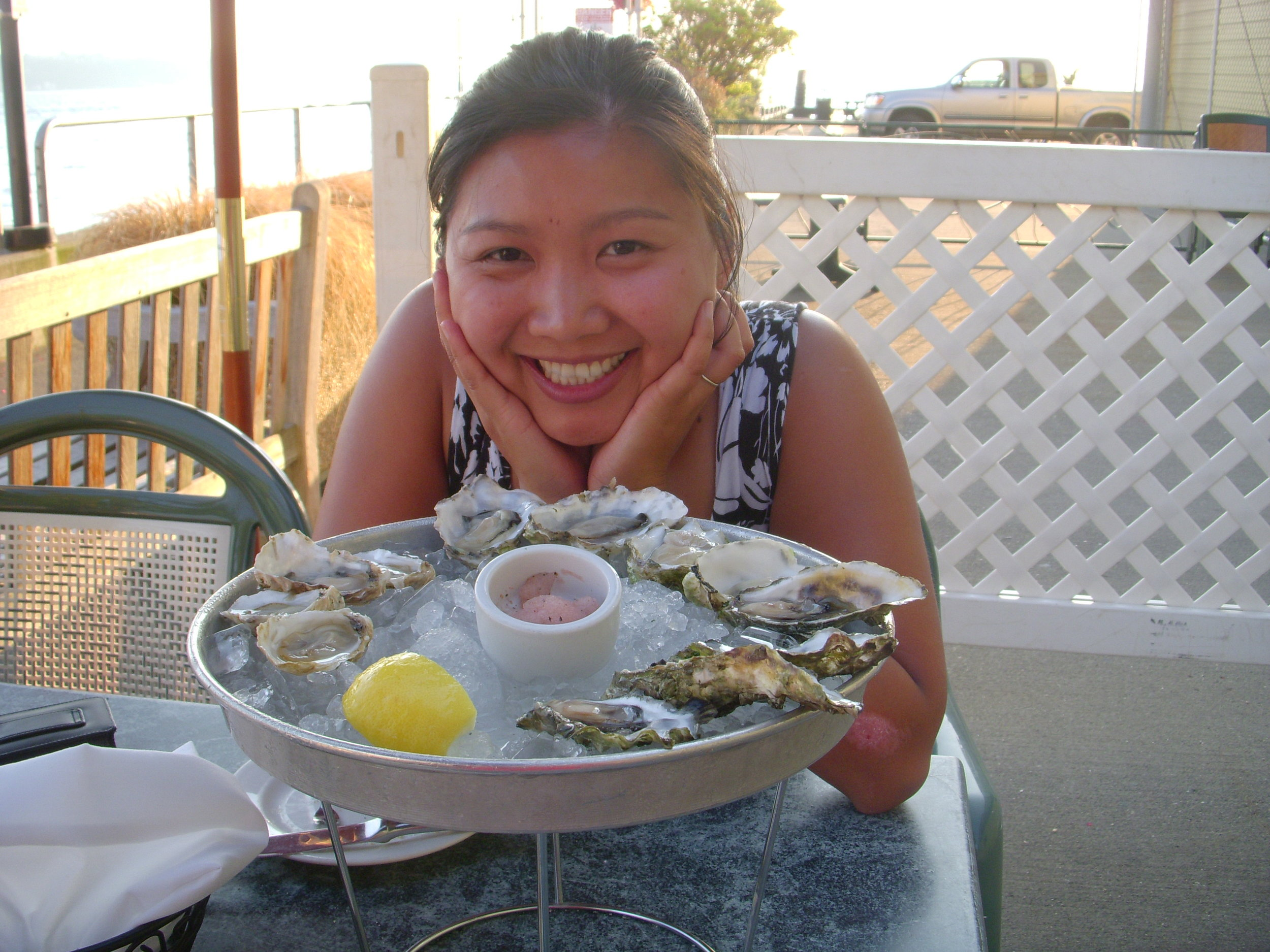 Mai and oysters