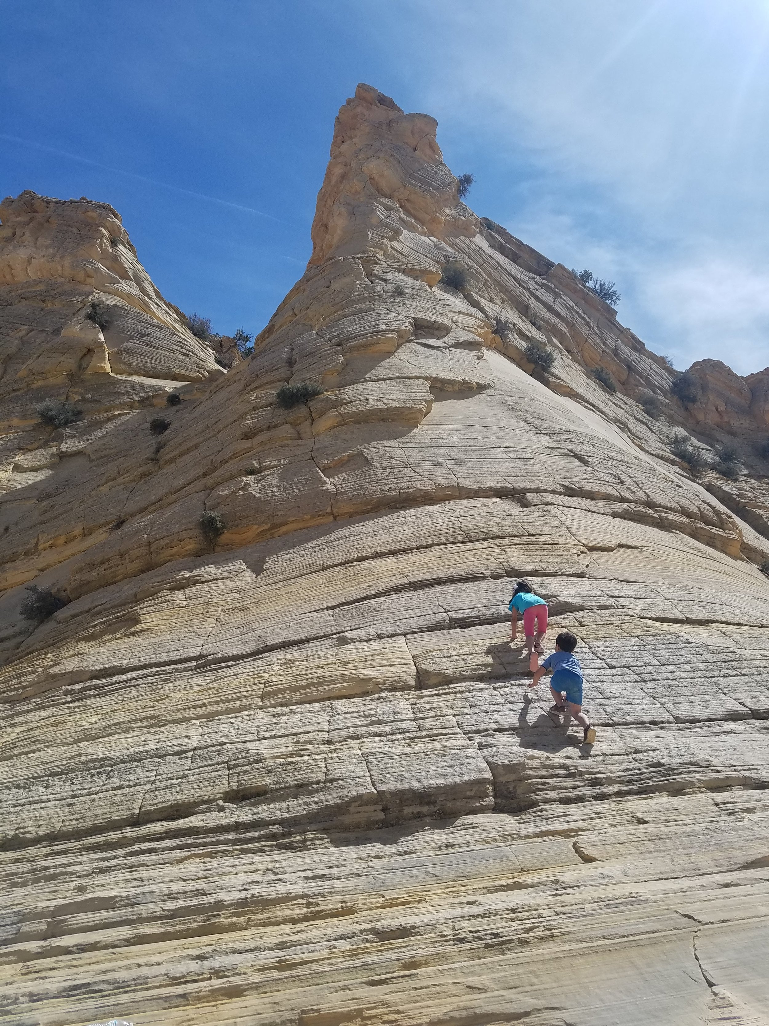 Climbing sandstone