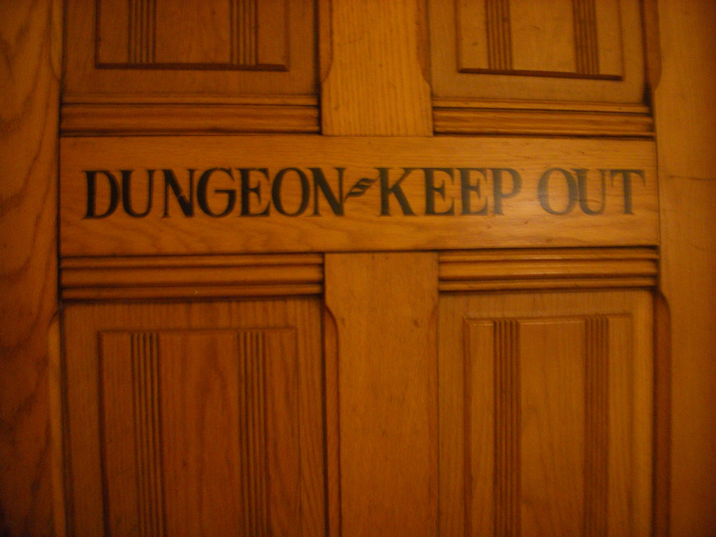 Never eat at a restaurant with a dungeon