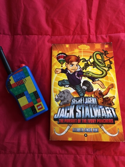 My daughter was a fan of Jack Stalwart first, and now her brother is tearing through them. He likes a page at the beginning of every book that tells about the spy tech Jack will use in the upcoming story. The Lego walkie talkie pictured above, which the kids have been using, doesn't seem to be available any more. I think a walkie talkie set and the first Jack Stalwart book would make a pretty great gift.