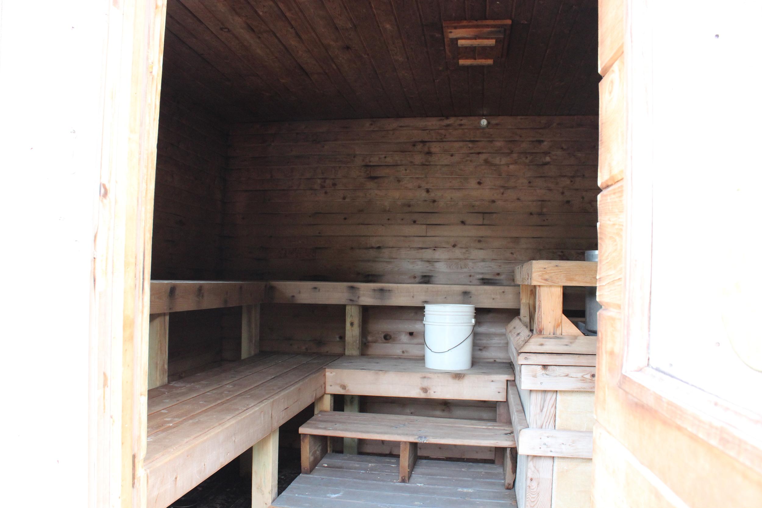Inside of Sauna