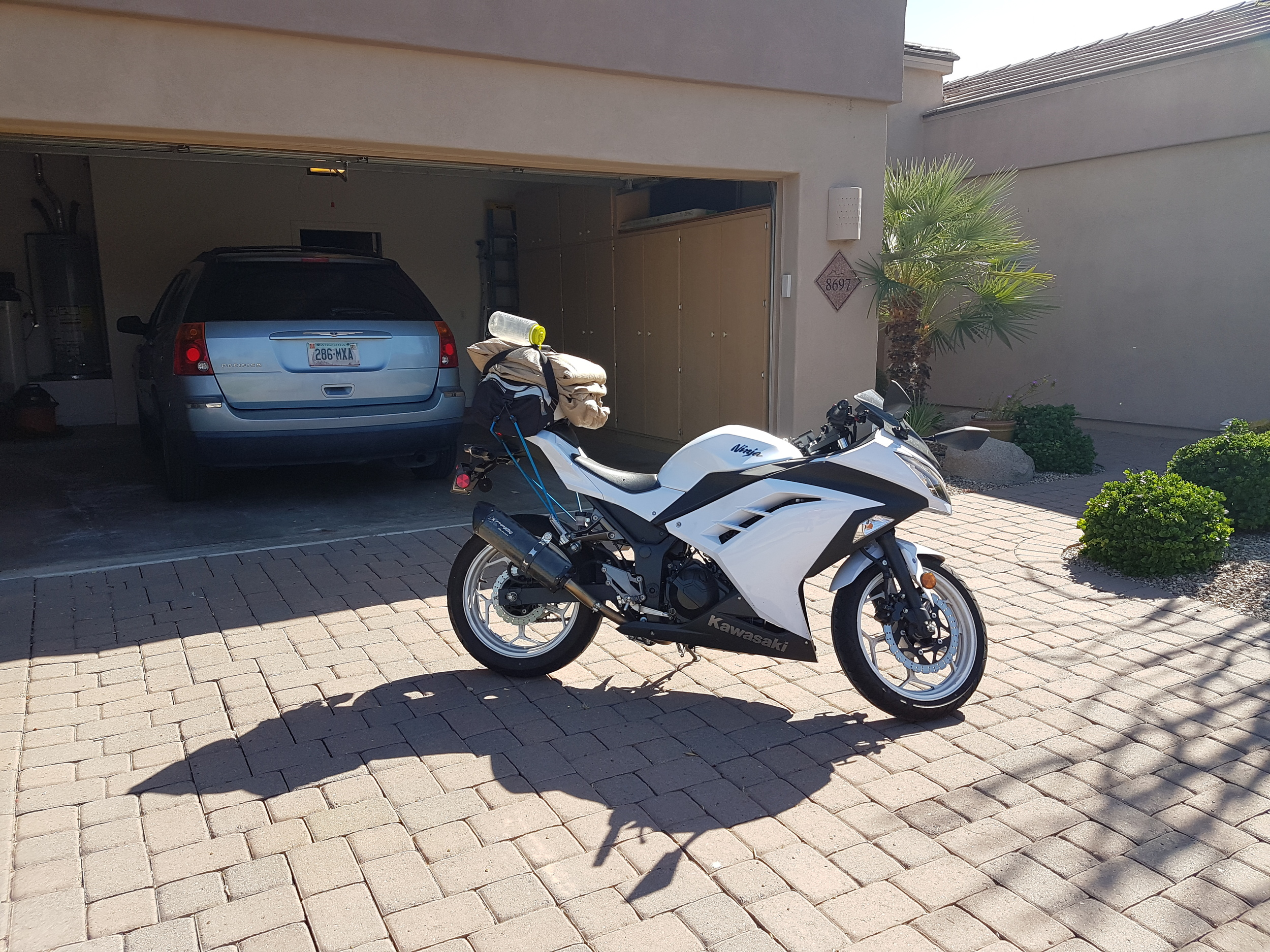 Meanwhile, Benjamin flew to Phoenix to pick up his bike and plans to intercept the Fiat in Flagstaff.