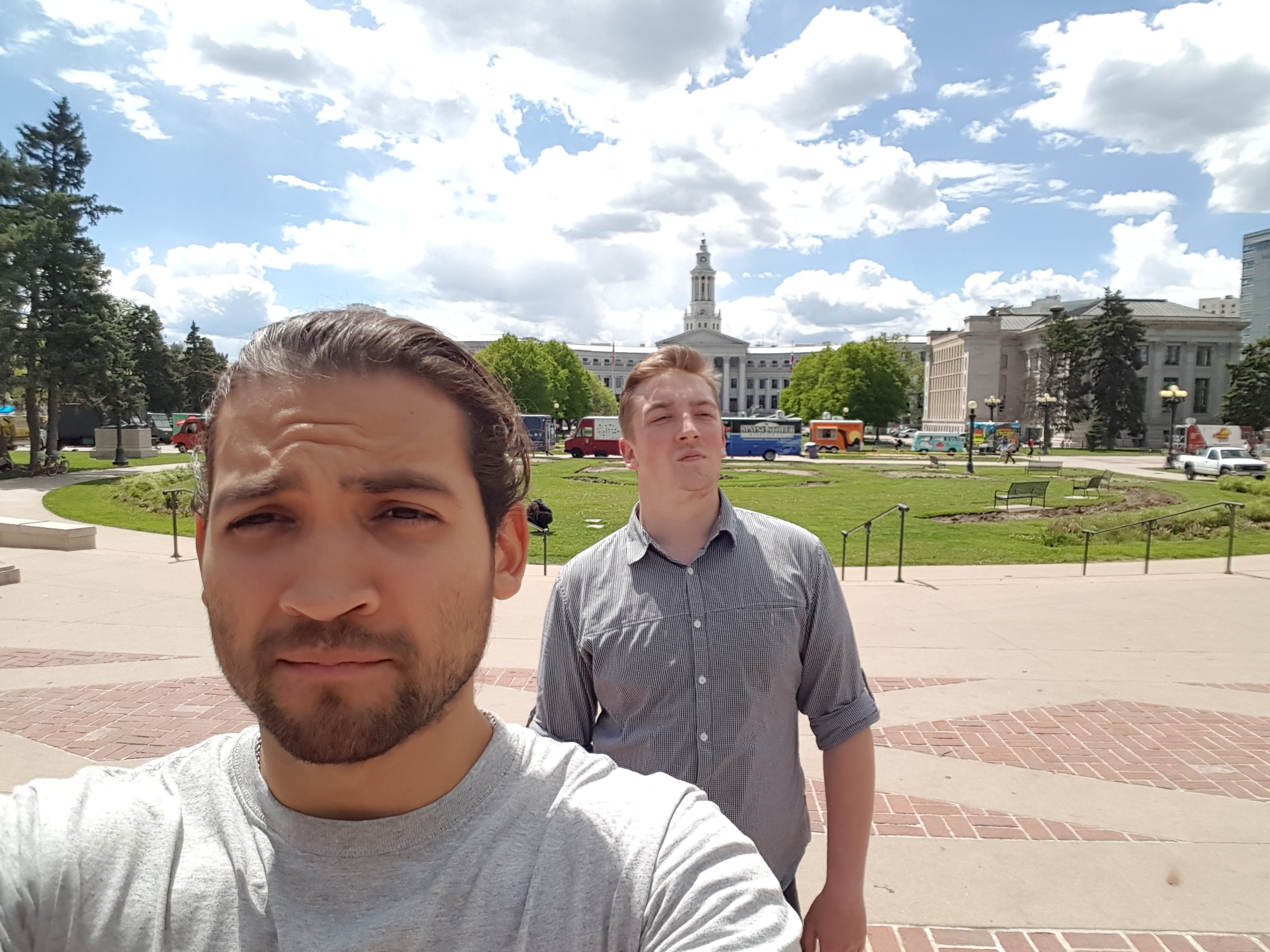 Hanging around the state capital in Denver.