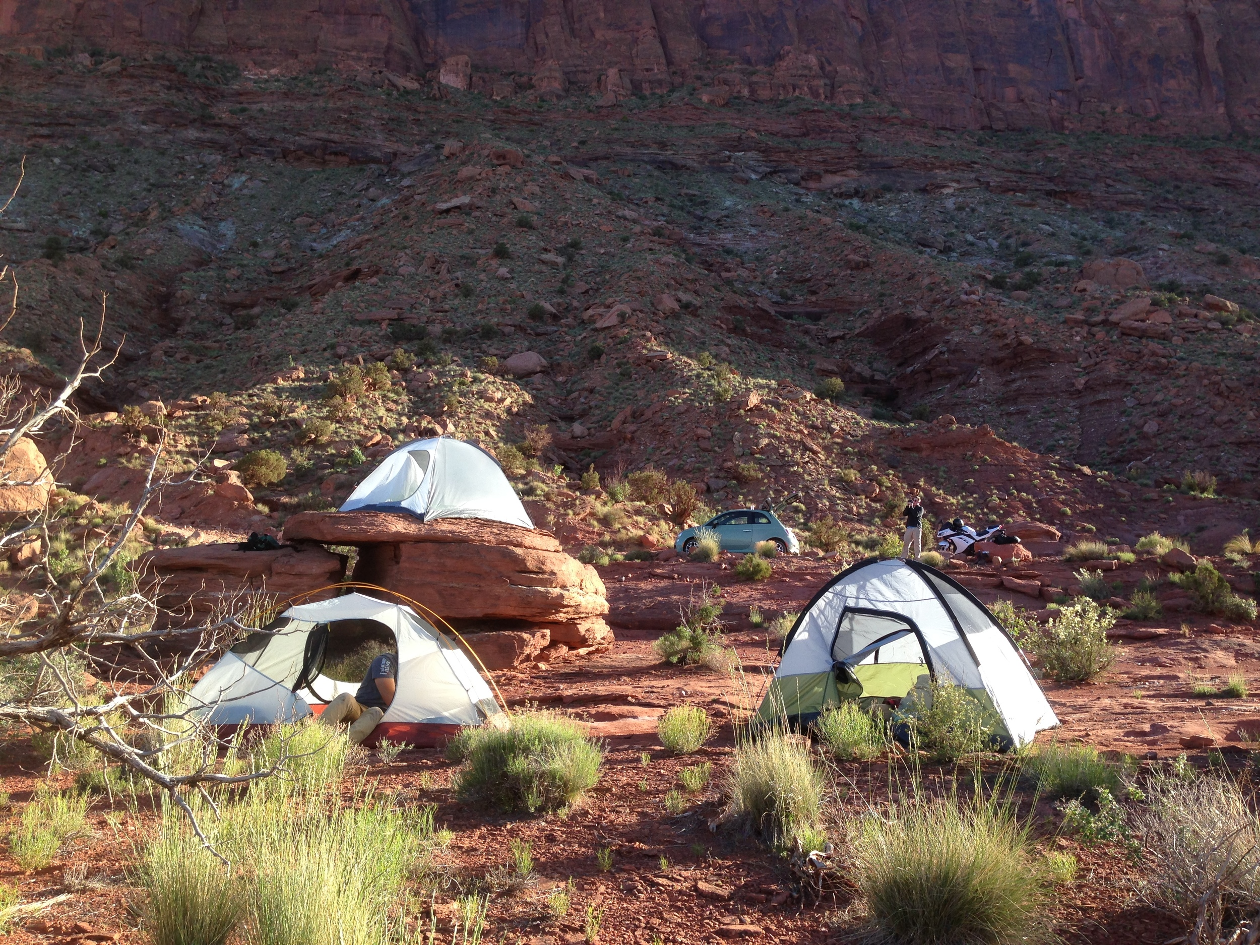 Primitive camping site a couple miles from Arches National Park in Moab, UT