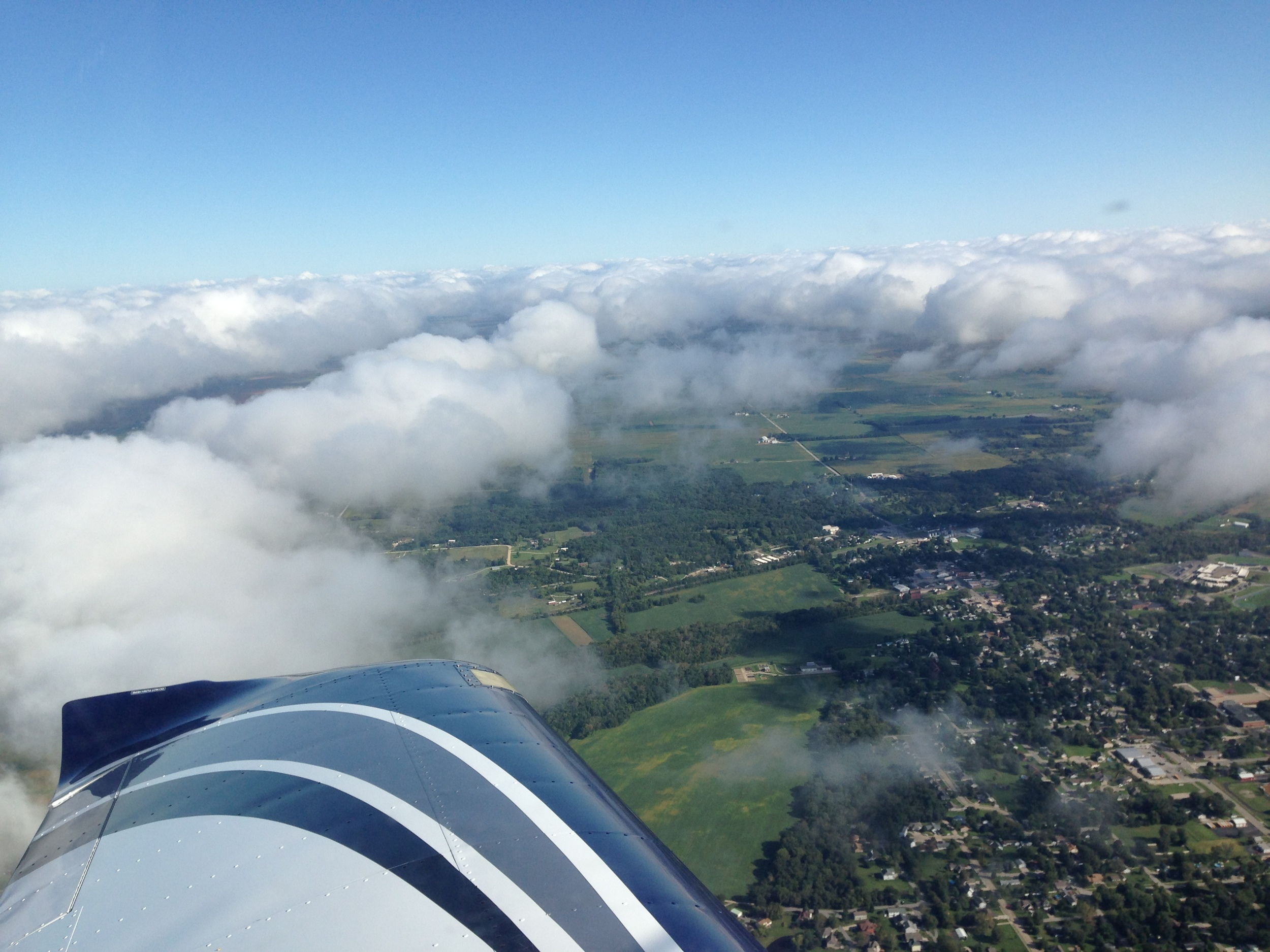 Soaring above the clouds