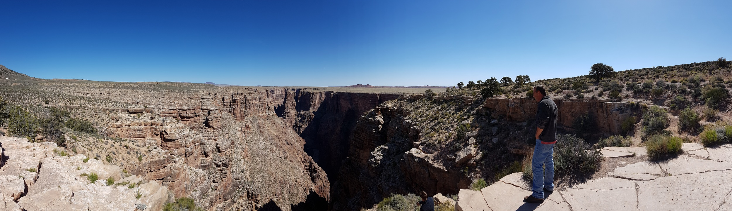 A rest stop in North Arizona with breathtaking scale.