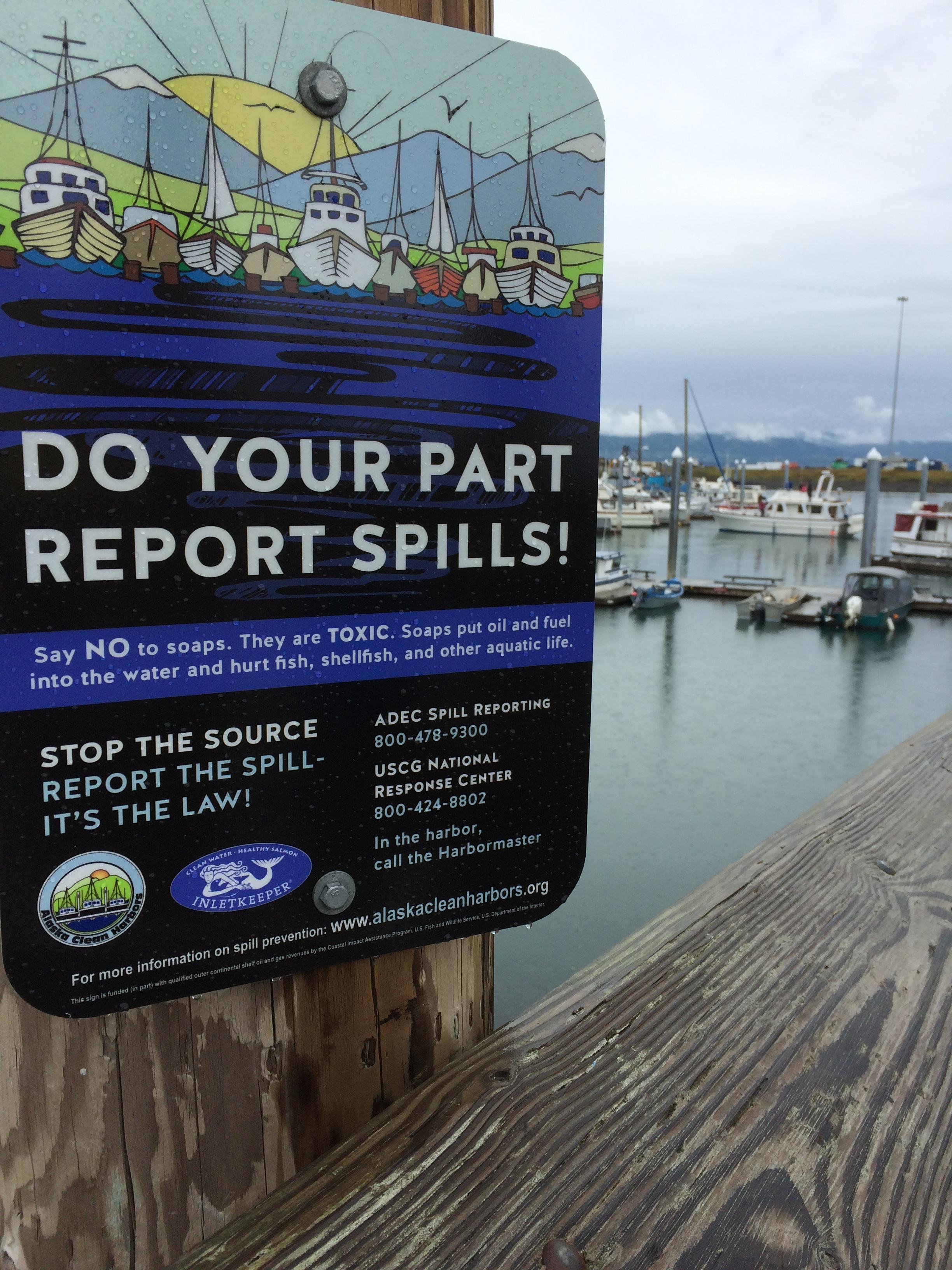 Homer Spill Response Sign.JPG
